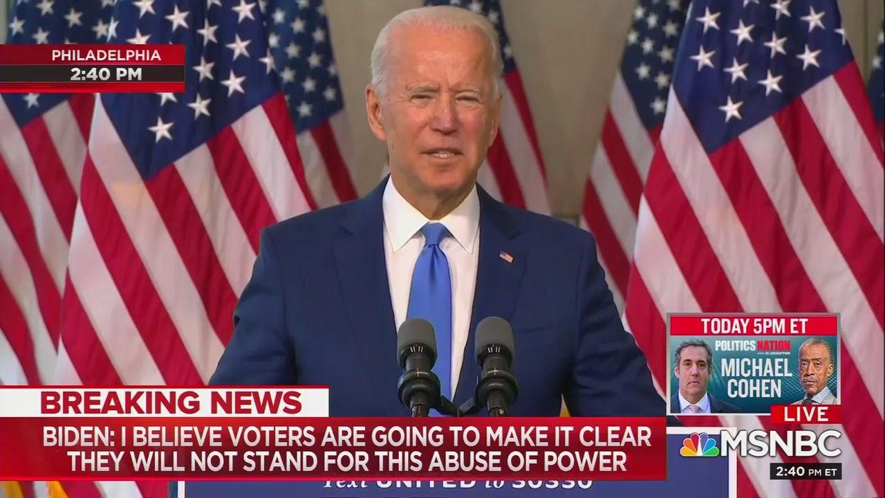 "Biden to Senate Republicans after RBG passing: ""Please follow your conscience"" thumbnail"