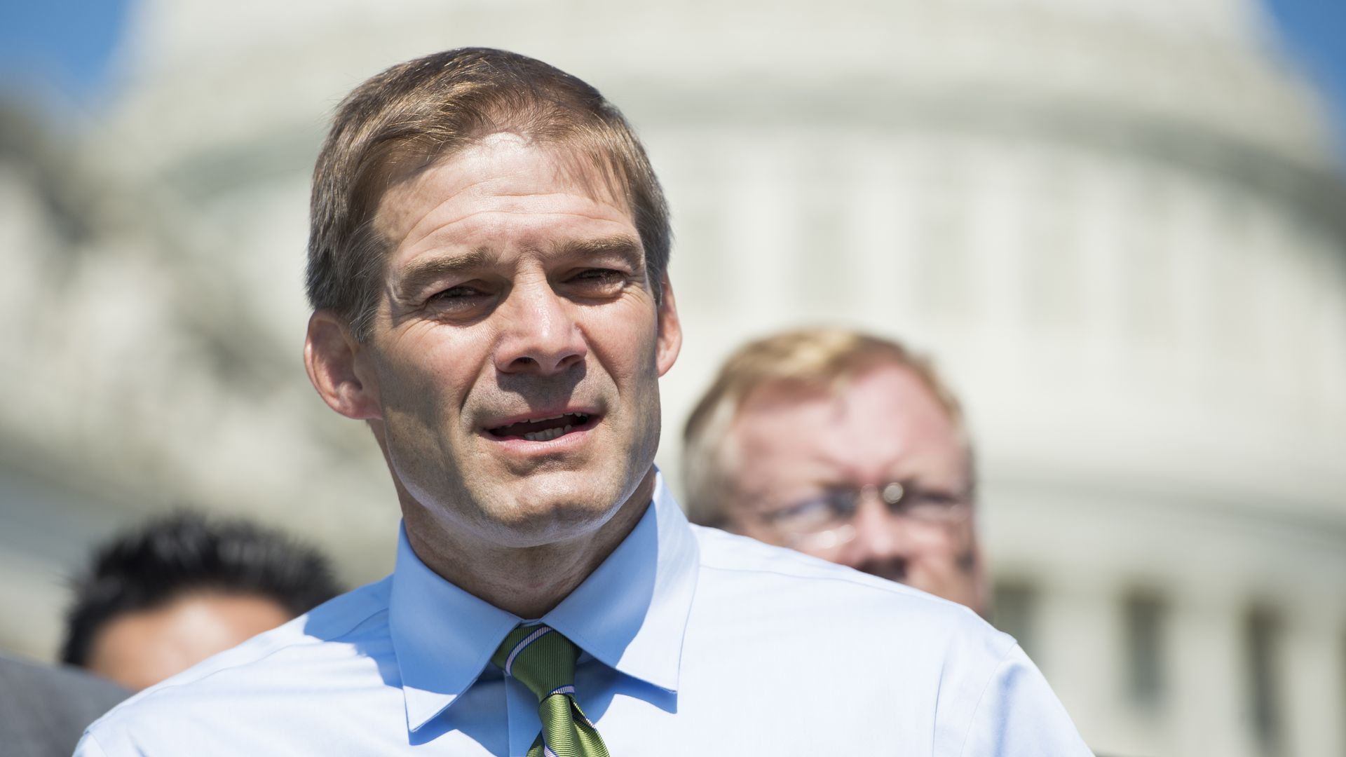 Rep. Jim Jordan speaks outside the Capitol