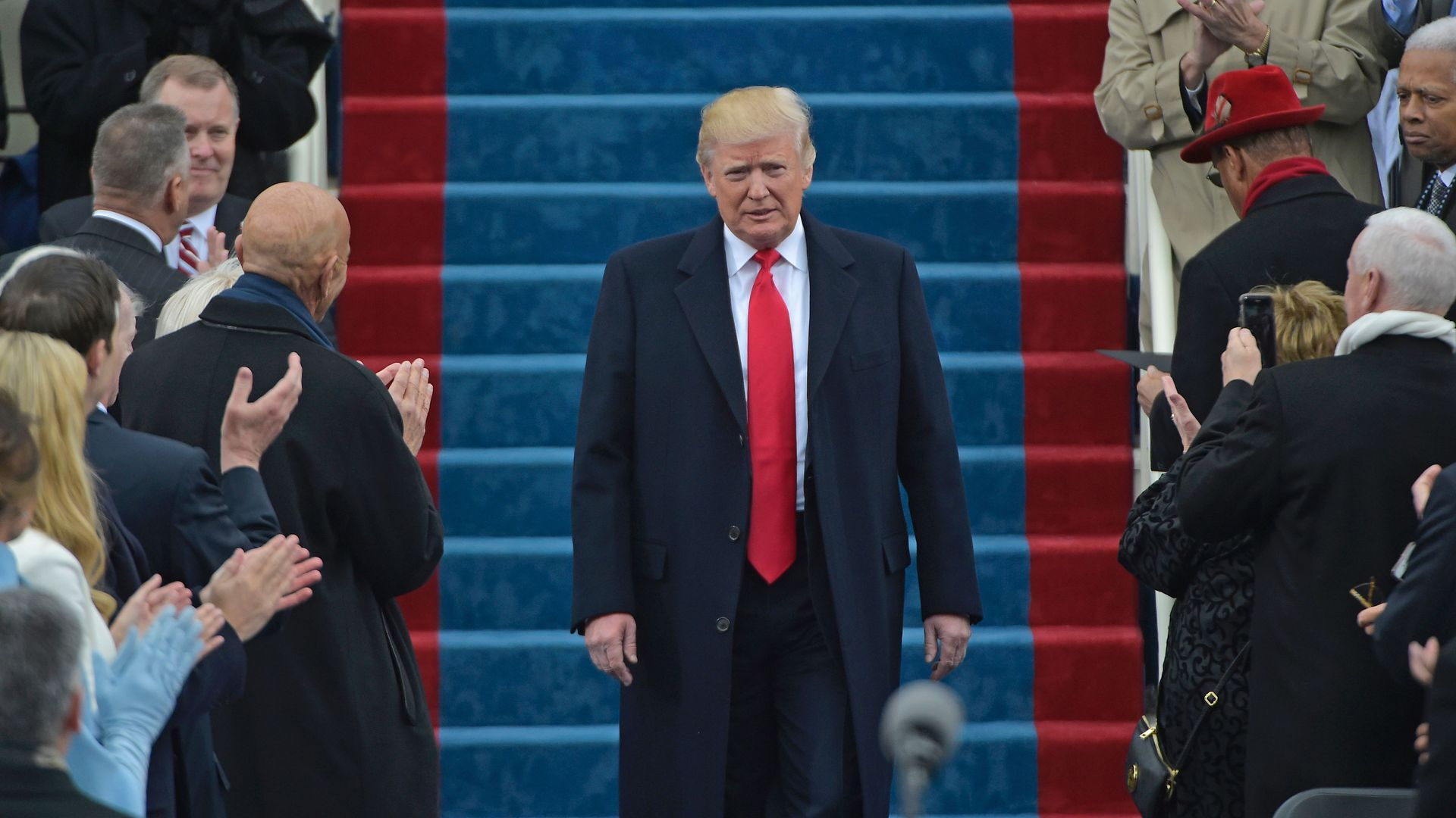 President Donald Trump during his swearing-in ceremony in 2017.