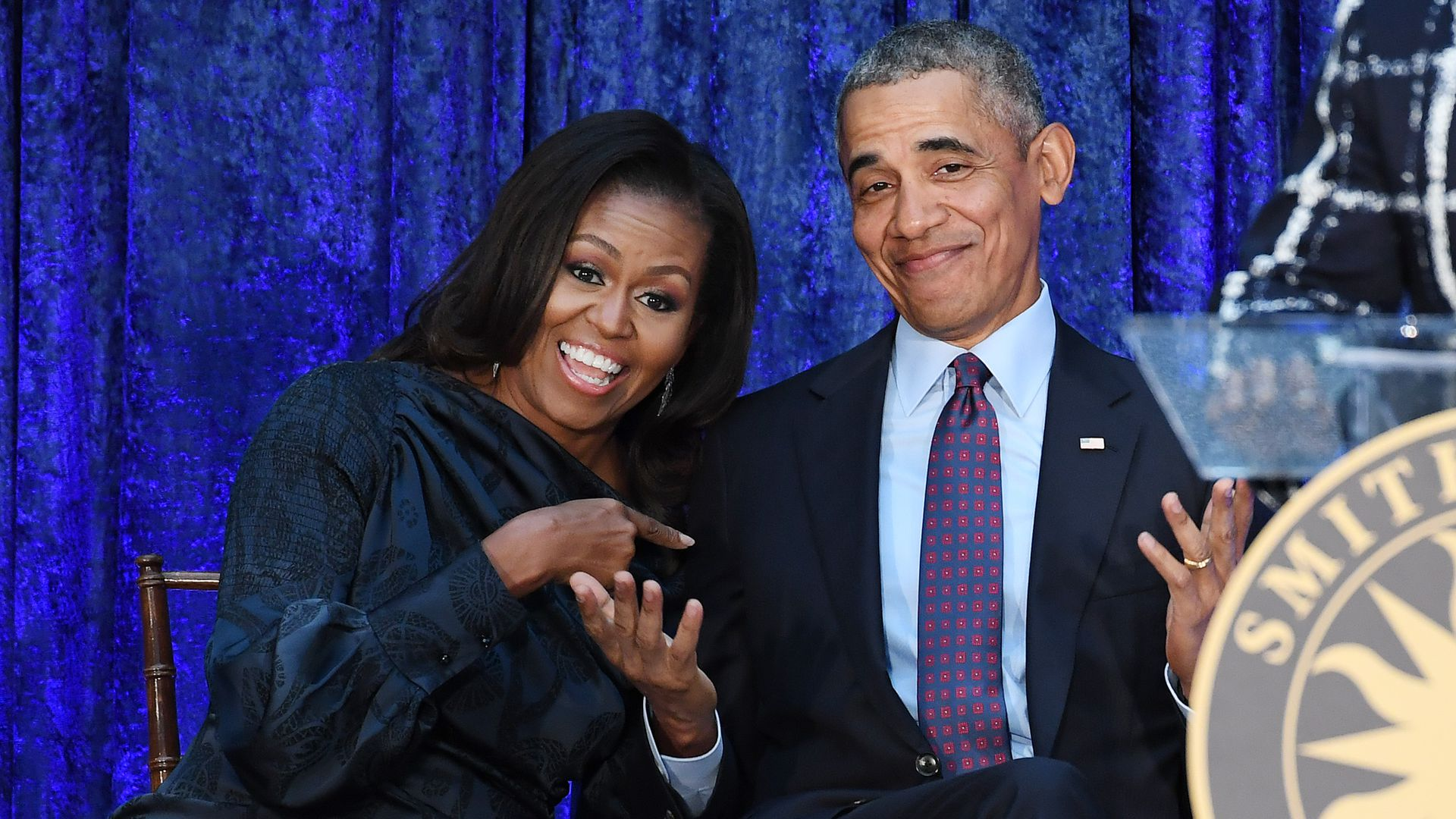 Former First Lady Michelle Obama and former President Barack Obama.