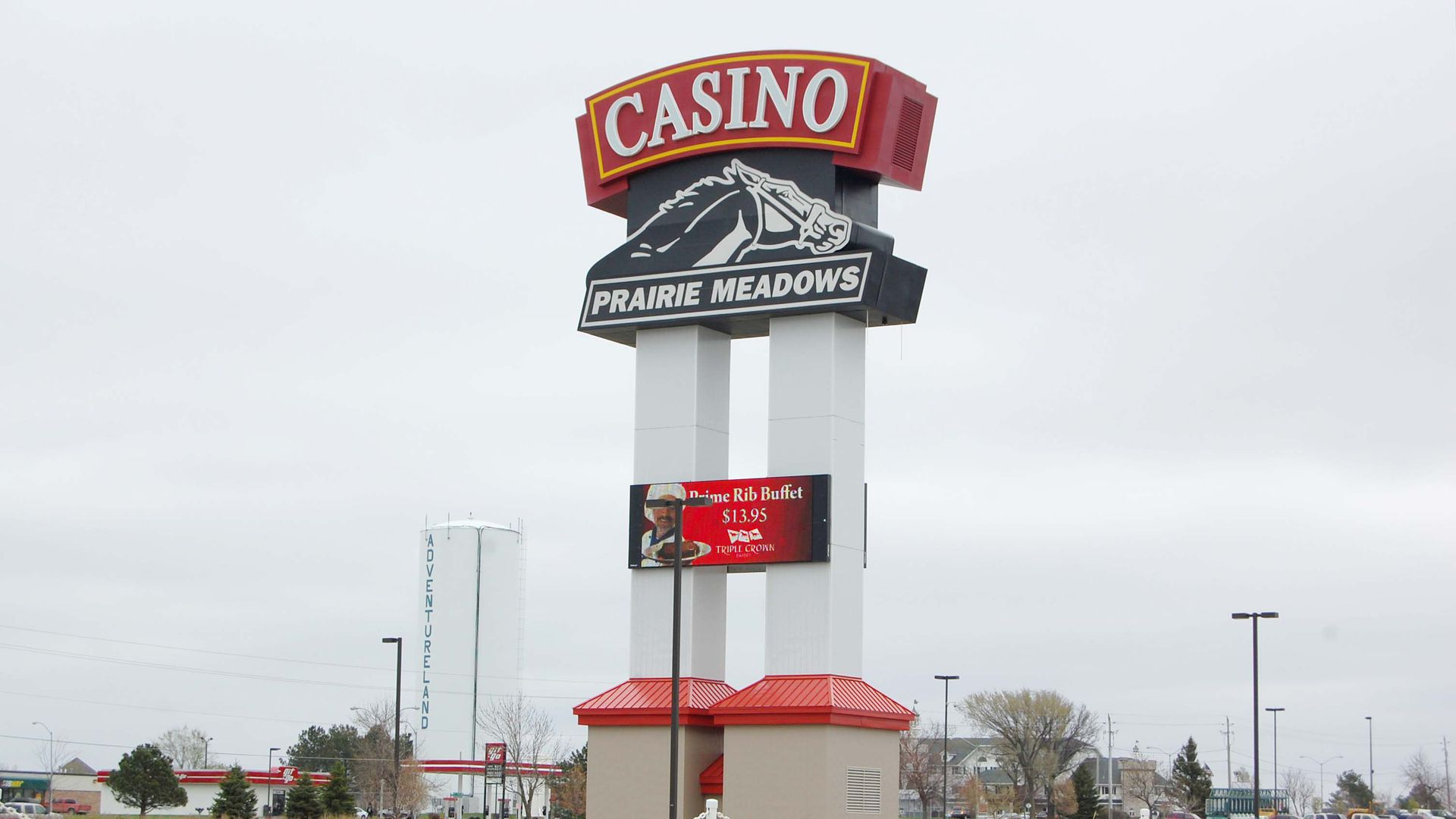 Picture of a Prairie Meadows Casino sign