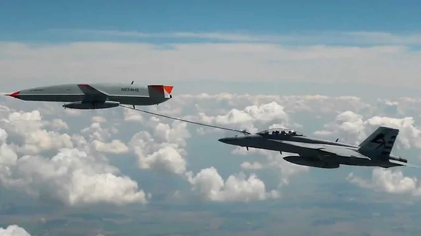 """""""Aviation history!"""": U.S. Navy uses drone to refuel in midair for first time"""