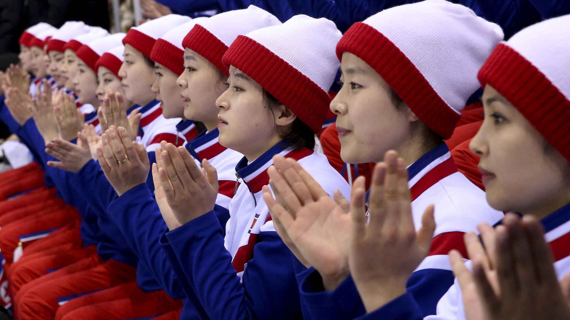 The North Korean 'pom pom girls.'