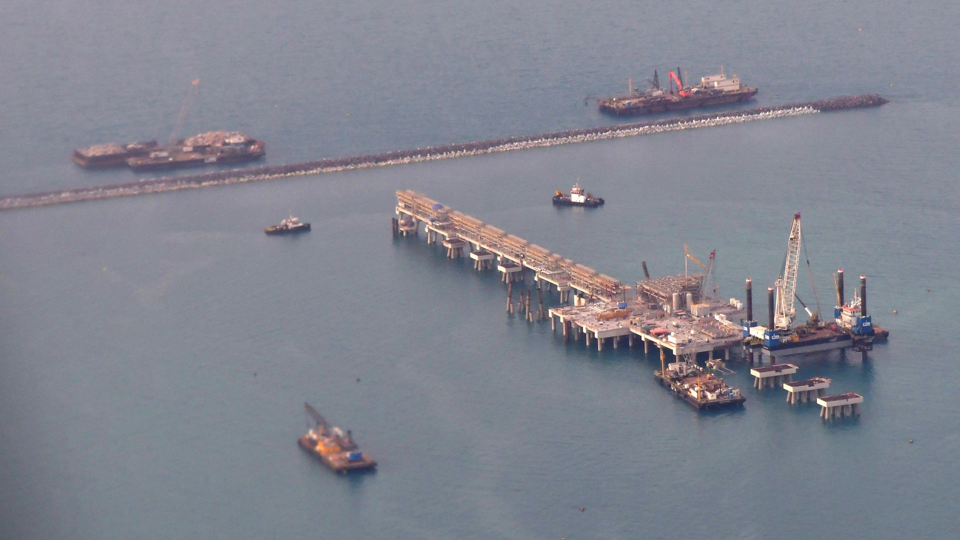 An oil platform in Bahrain.