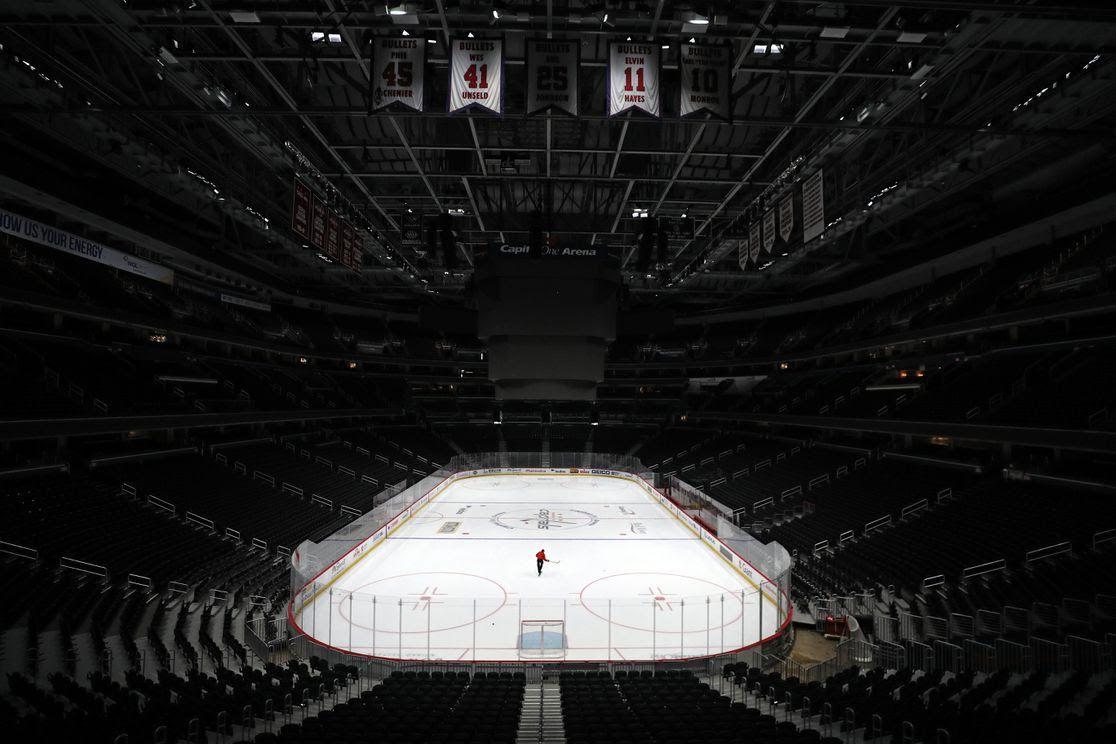 empty hockey ring