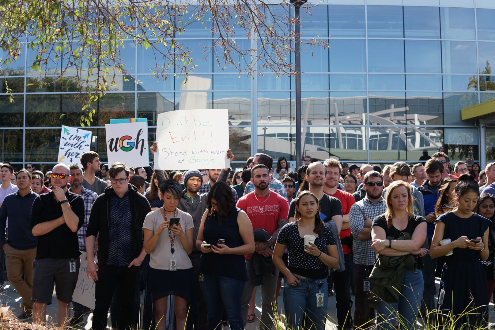 Google employees walk out in Mountain View
