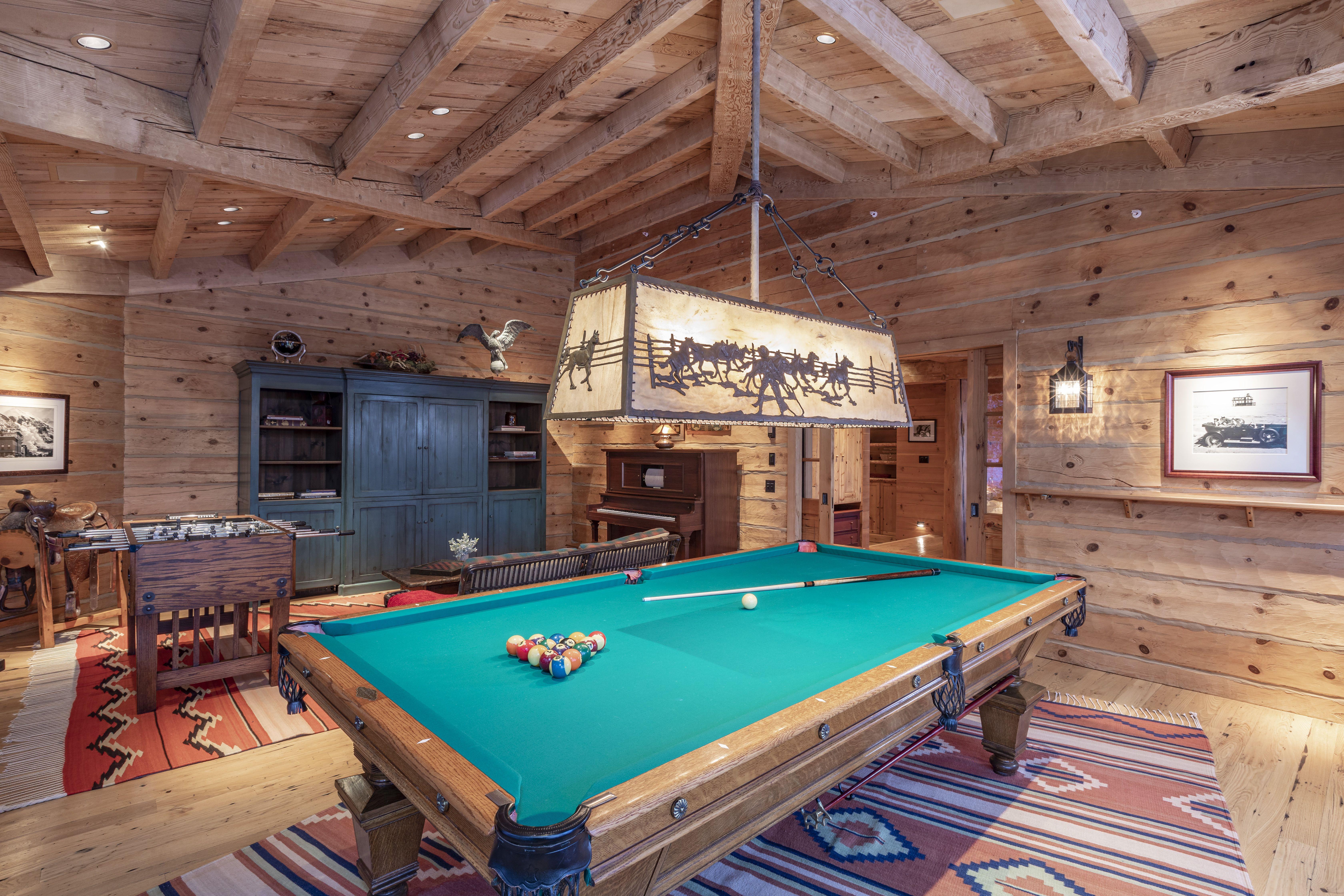 Tom Cruise's Telluride Ranch billiards room
