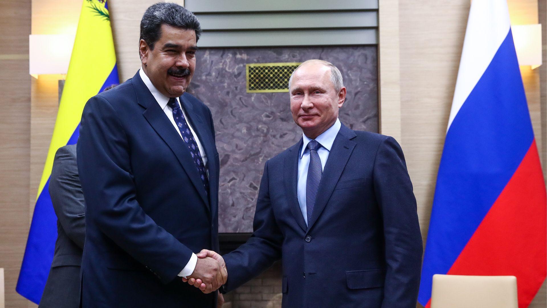 Nicolas Maduro and Vladimir Putin