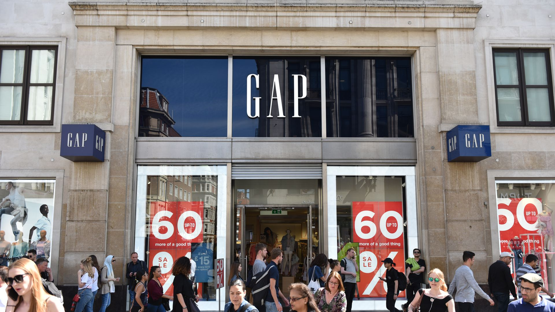 Storefront of Gap in London