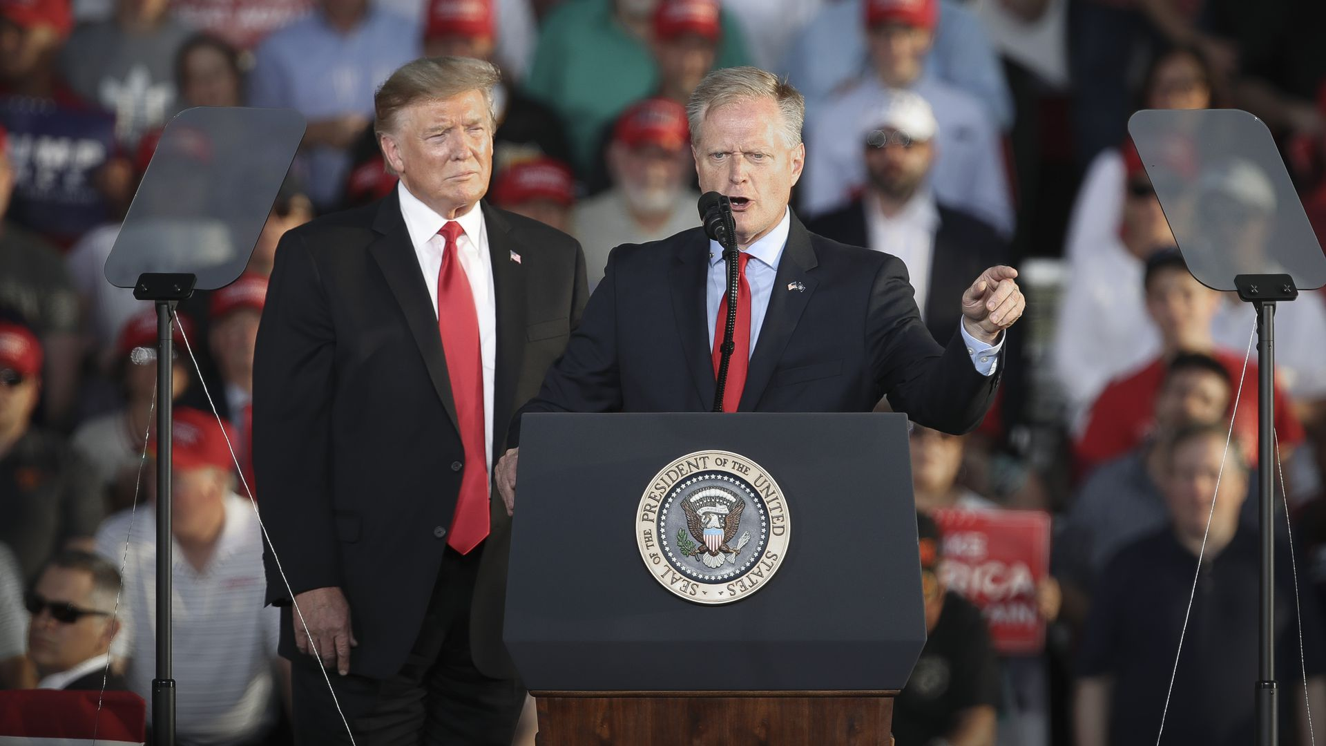 President Trump and Fred Keller, Republican candidate for Congress in Pennsylvania's 12th Congressional district.
