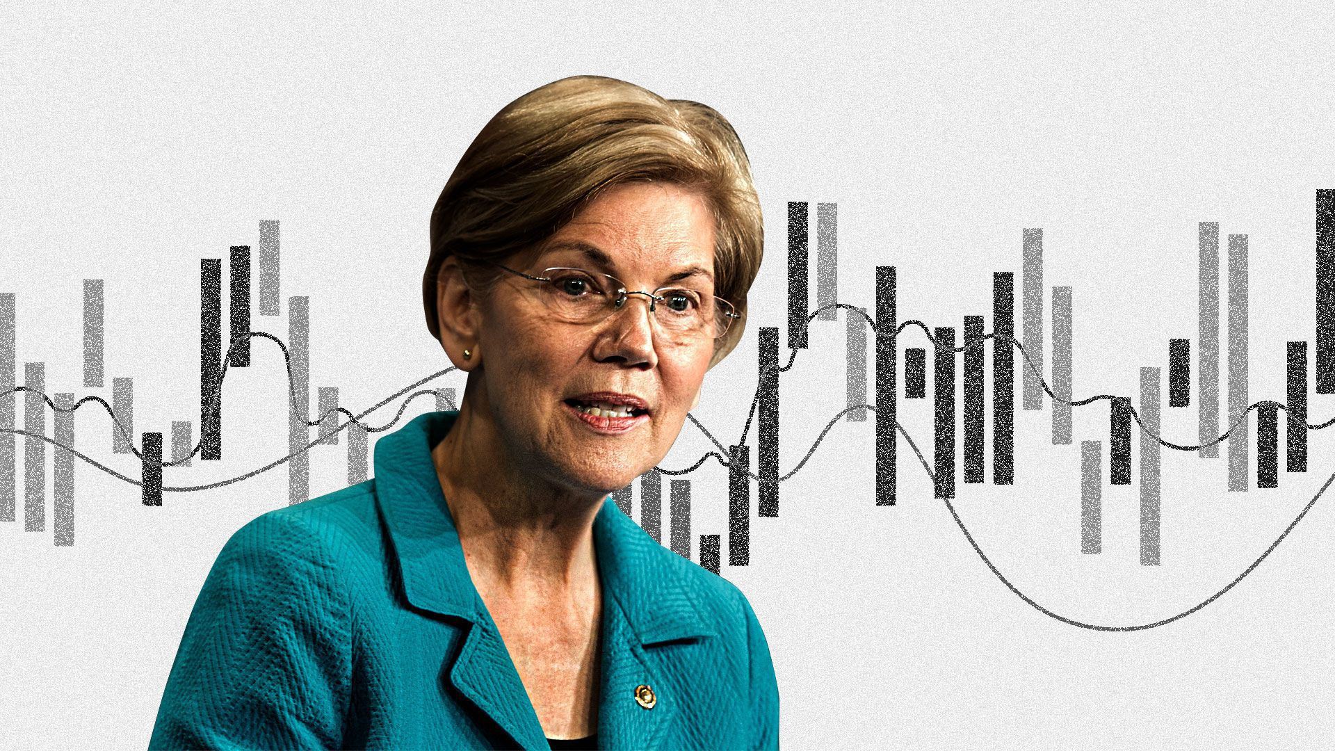 Elizabeth Warren surrounded buy complex charts