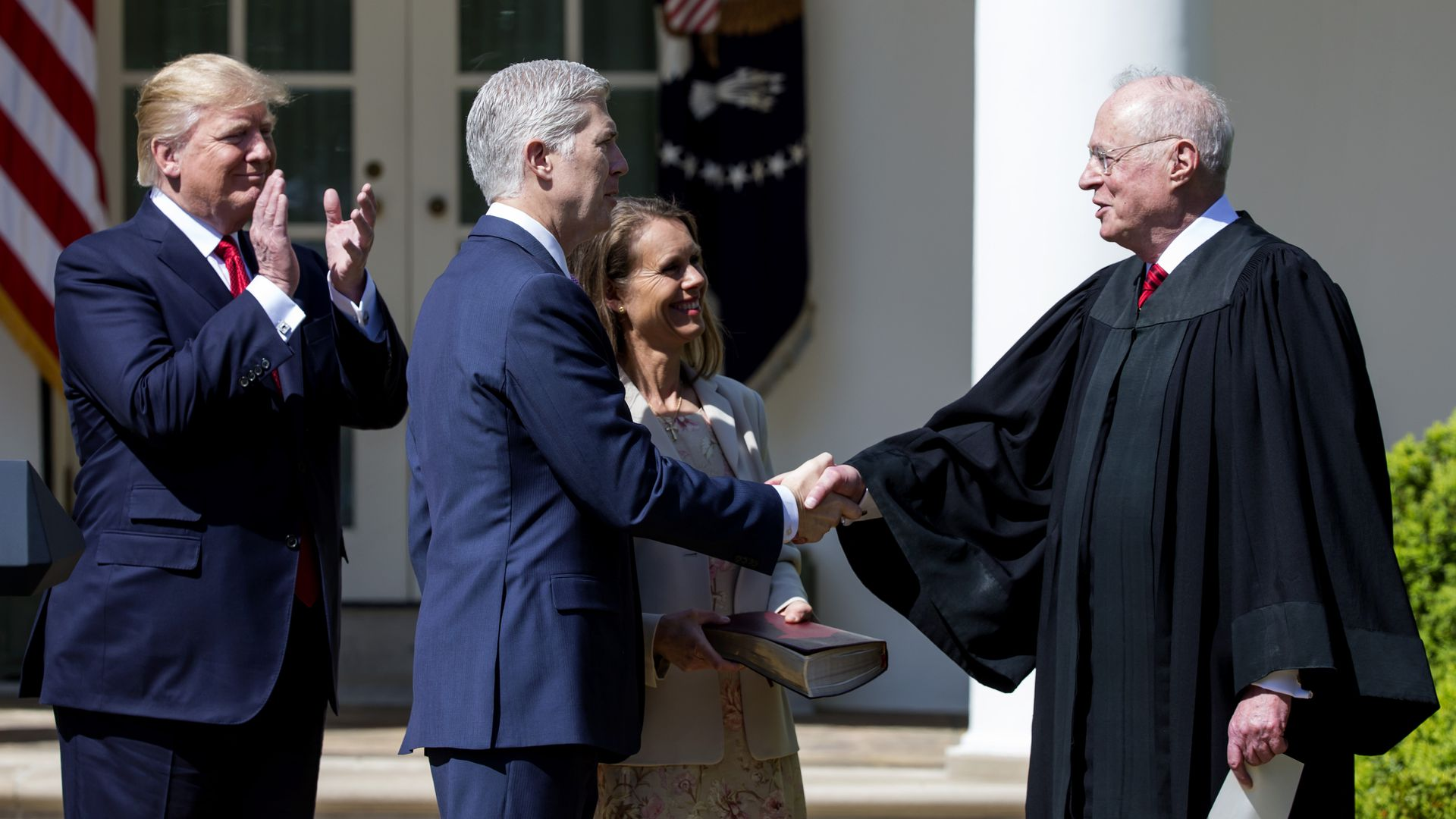 President Trump, Neil Gorsuch and Anthony Kennedy