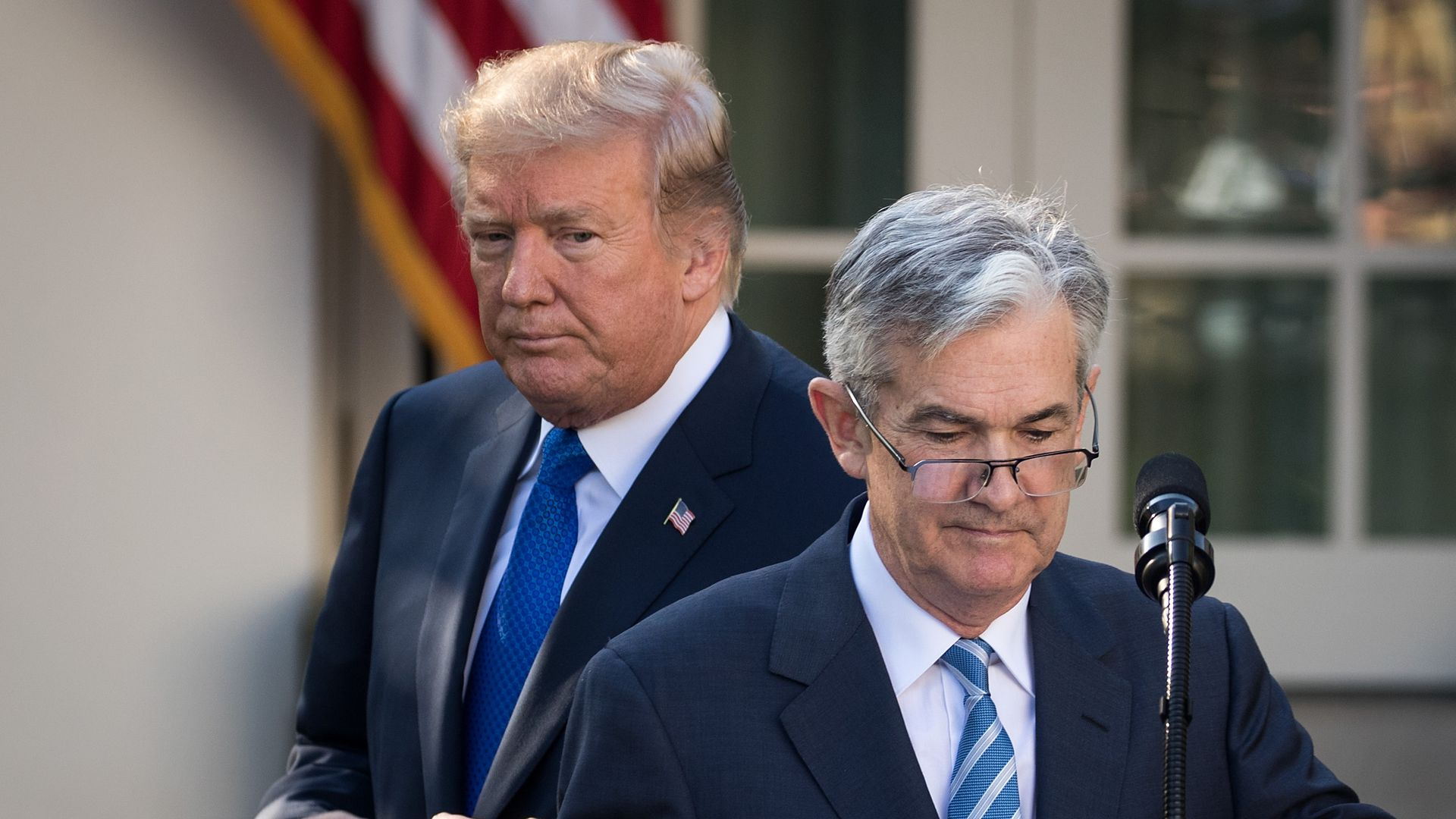 Trump and Fed Chairman Jerome Powell
