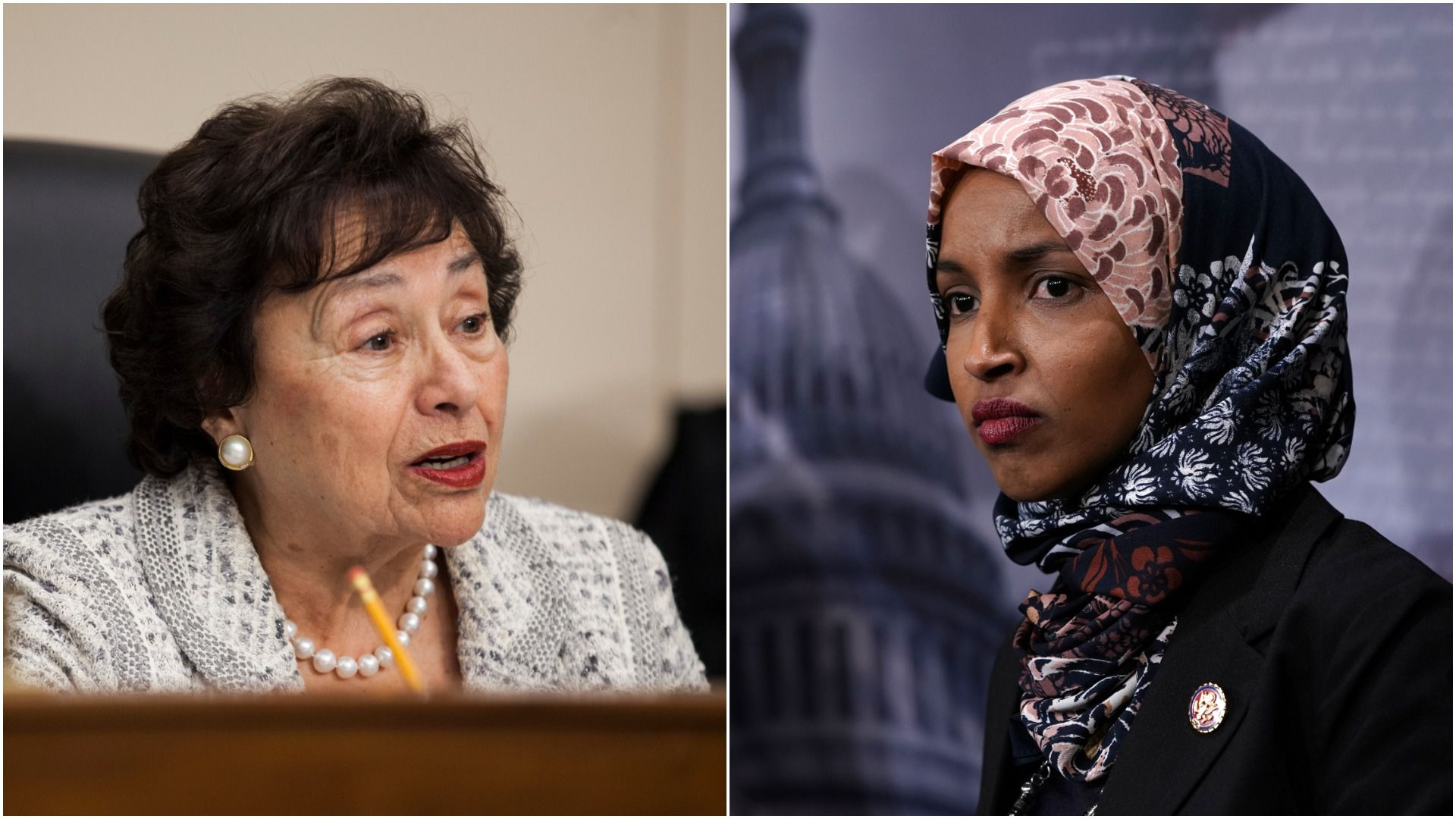 Democratic Reps. Nita Lowey (D-N.Y.) and Ilhan Omar (D-Minn.)