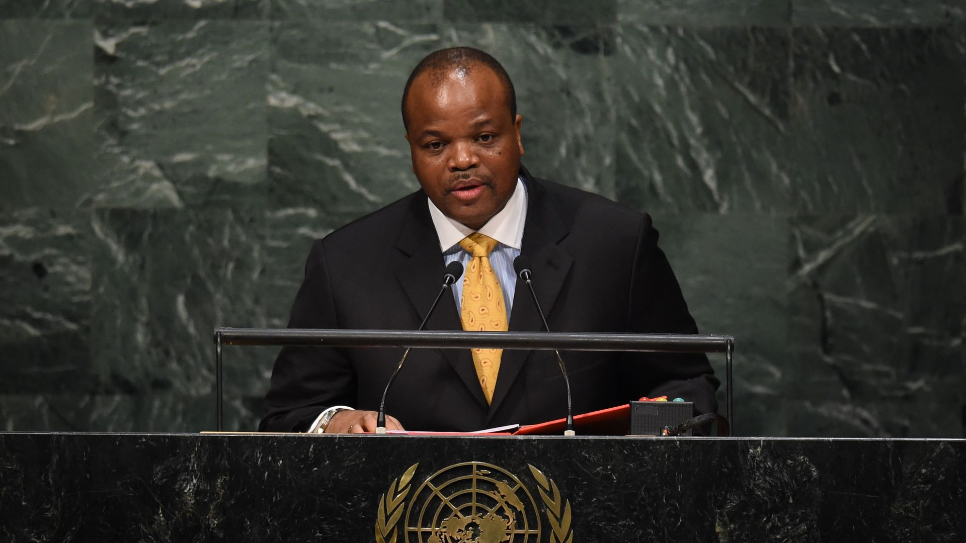 King Mswati III, Head of State of the Kingdom of Swaziland