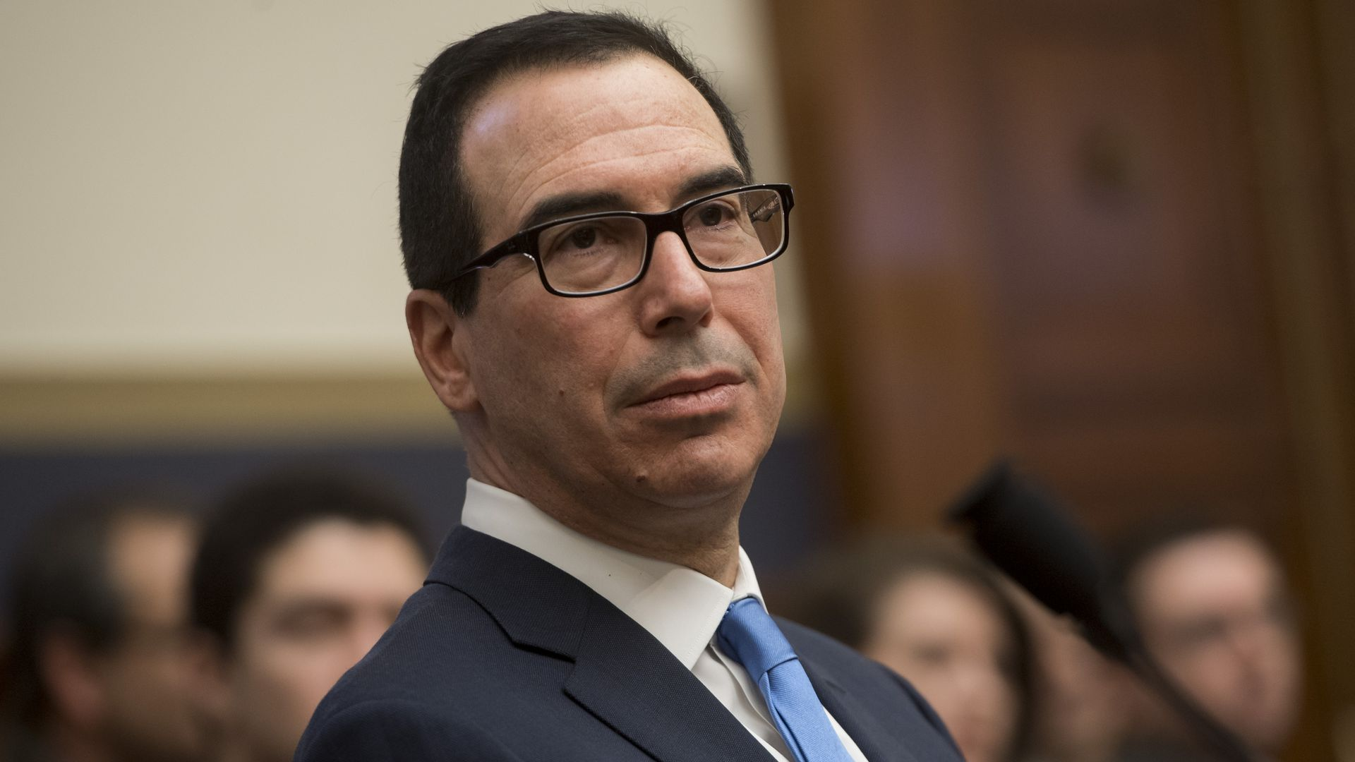 Treasury Secretary Steven Mnuchin, who wants the Justice Department to take a tougher look at major technology companies.