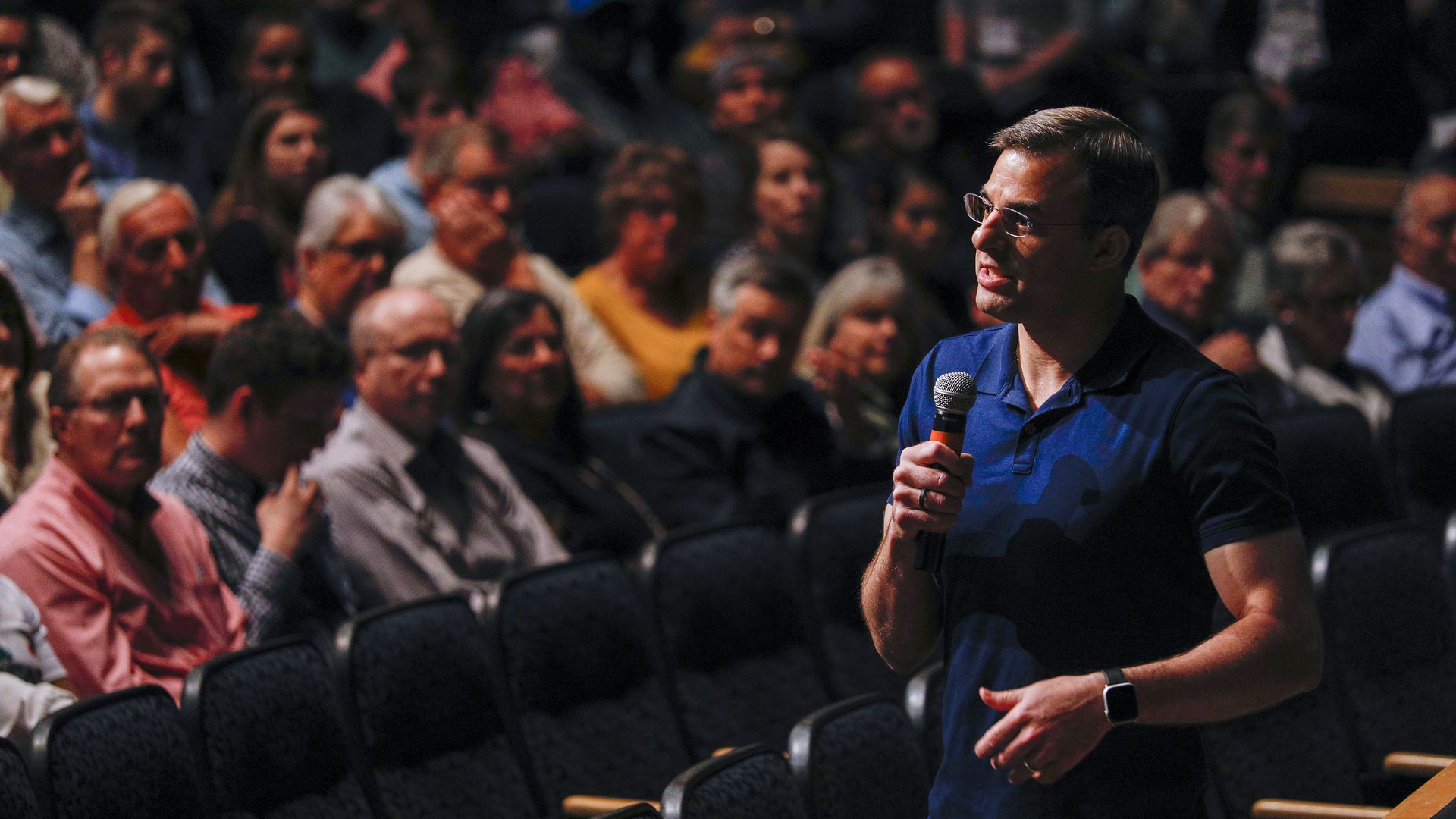 U.S. Rep. Justin Amash (R-MI) holds a Town Hall Meeting on May 28, 2019 in Grand Rapids, Michigan.