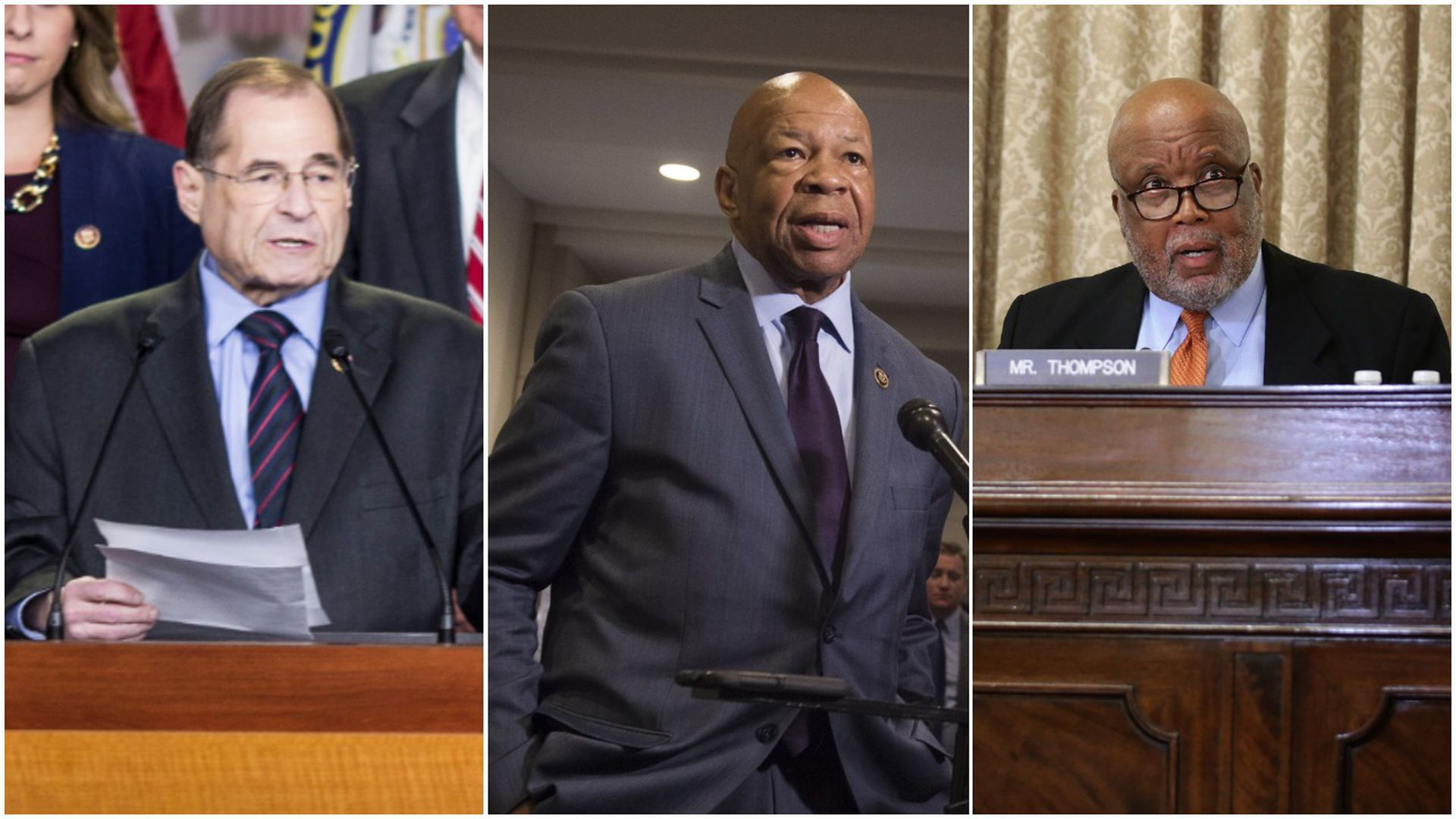 House Committee on the Judiciary Chair Jerry Nadler, House Committee on Oversight and Reform Chair Elijah Cummings and House Committee on Homeland Security Bennie Thompson.