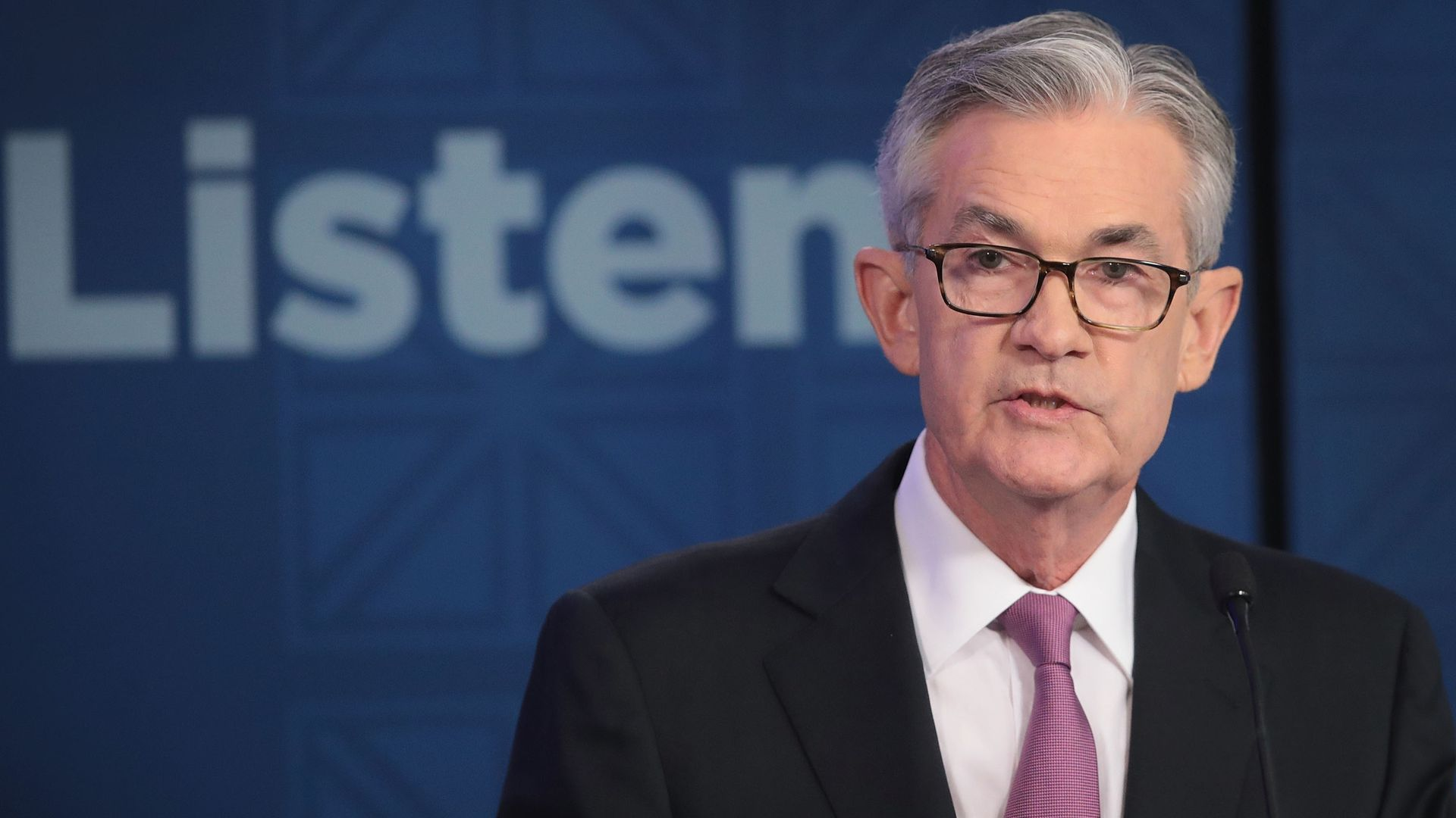 CHICAGO, ILLINOIS - JUNE 04: Jerome Powell, Chair, Board of Governors of the Federal Reserve speaks during a conference at the Federal Reserve Bank of Chicago on June 04, 2019 in Chicago, Illinois