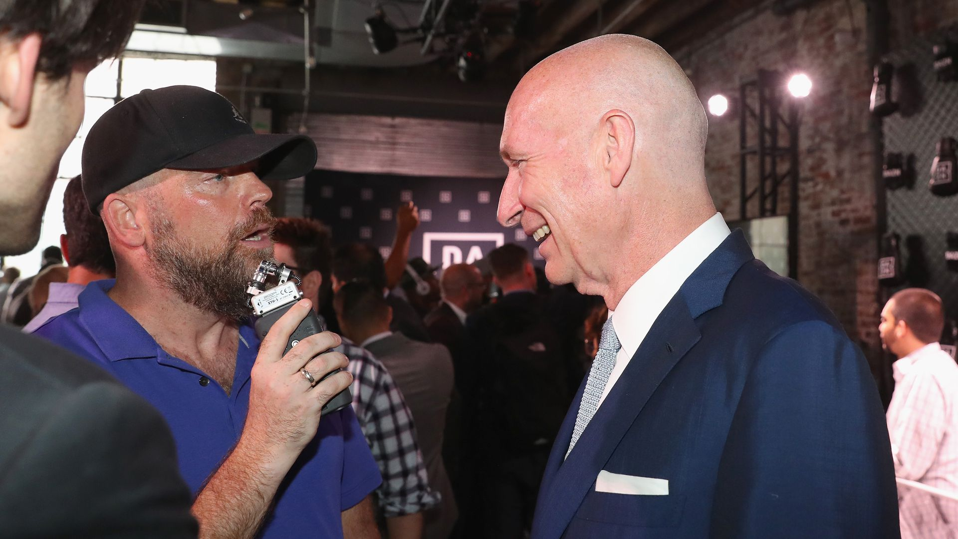 John Skipper is interviewed at the U.S. launch of DAZN. Photo: Johnny Nunez/Getty Images for DAZN.