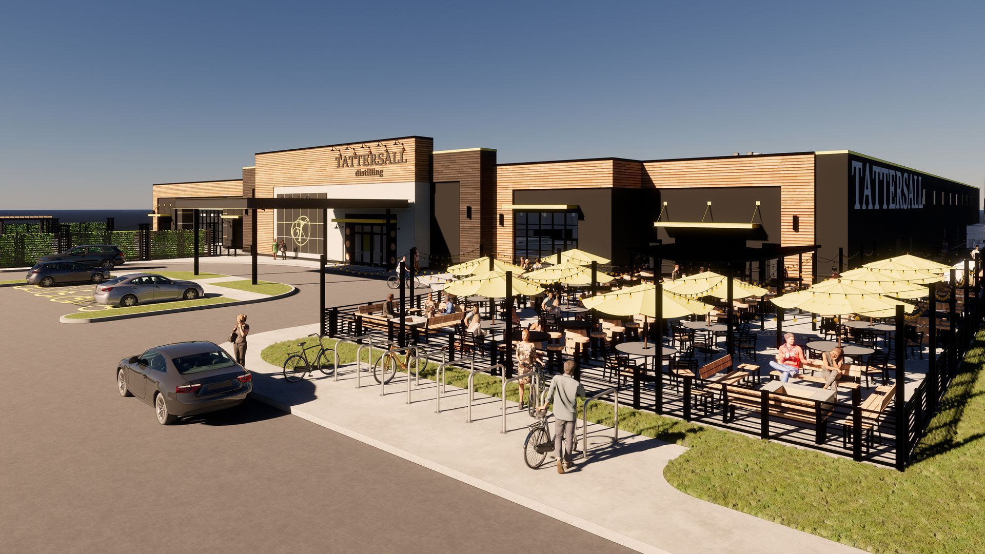 An image of Tattersall's new destination distillery in Wisconsin