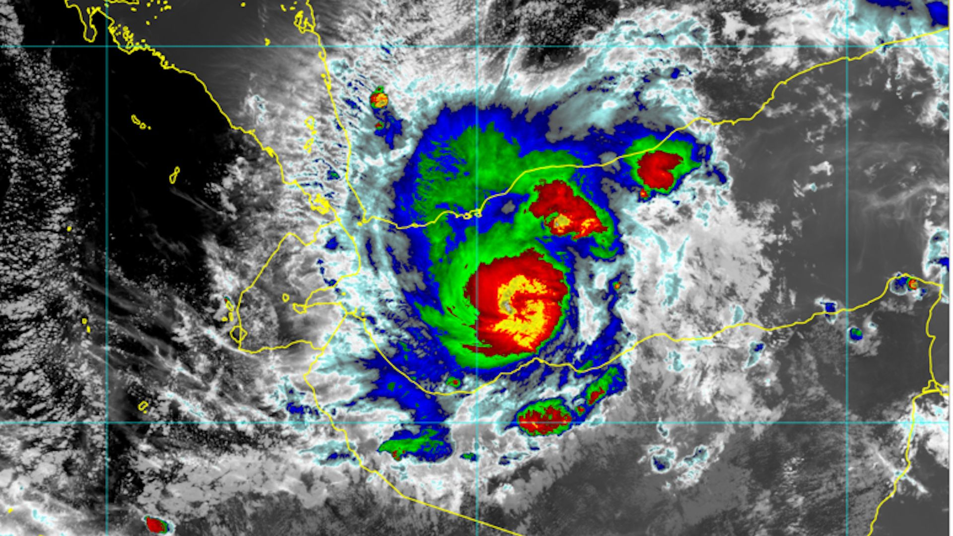 Tropical Cyclone Sagar moving west in the Gulf of Aden, toward Somalia.