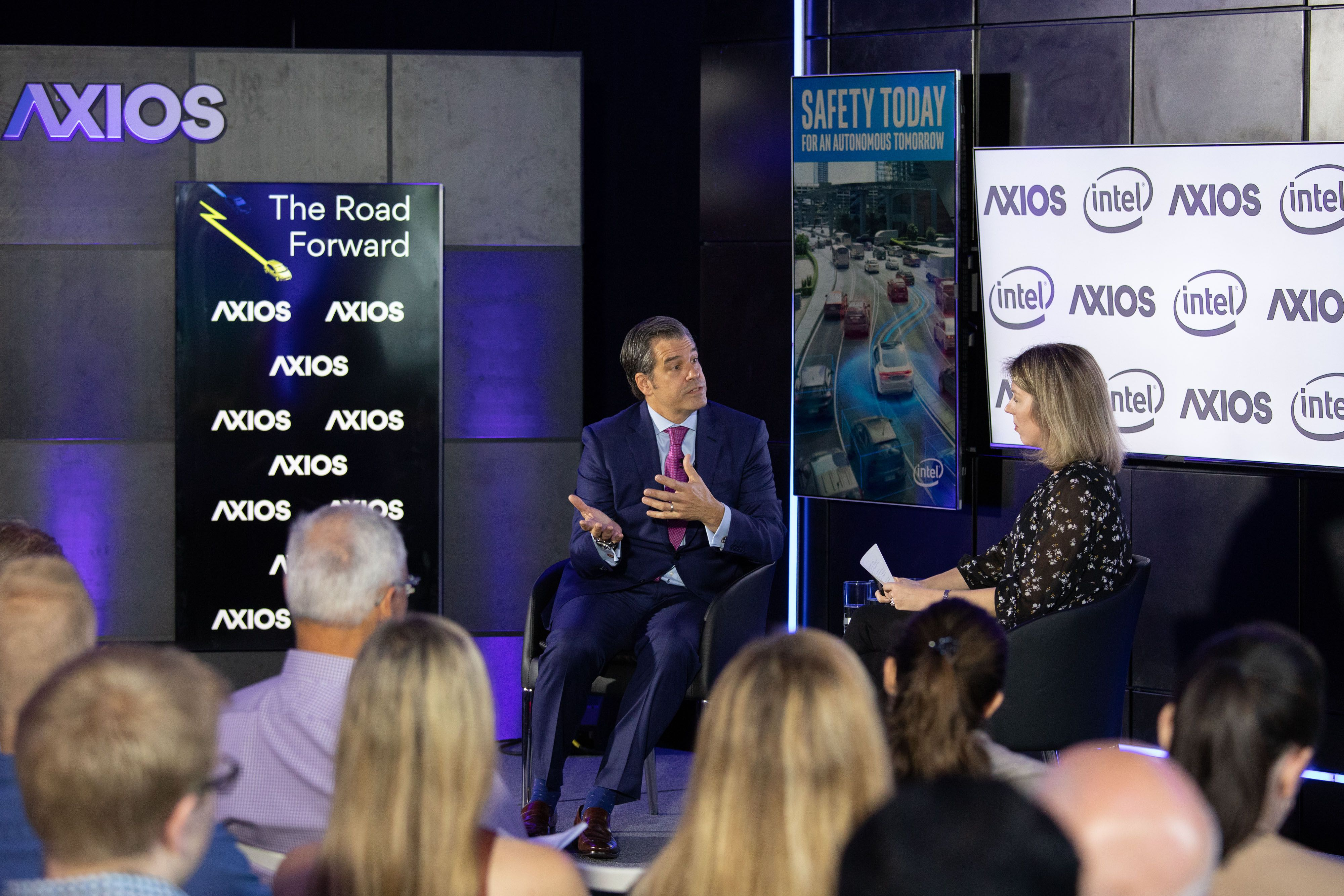 Global Automakers CEO John Bozzella and Kim Hart
