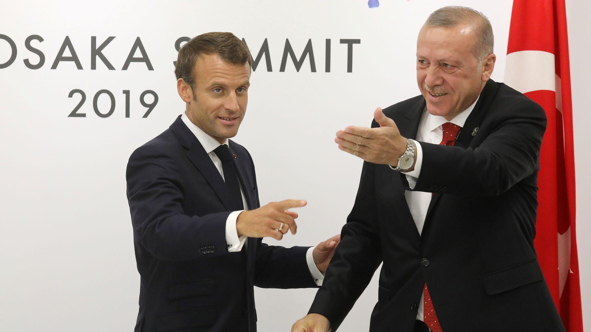France's President Emmanuel Macron meets Turkey's President Recep Tayyip Erdogan
