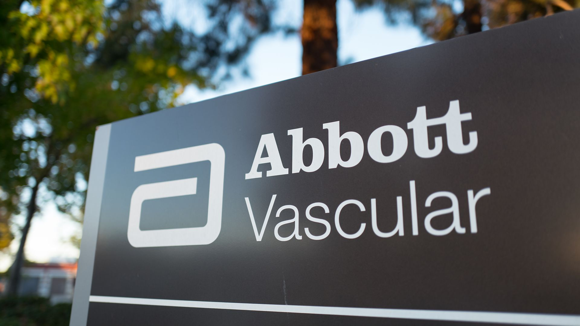 The headquarters sign of Abbott Vascular.