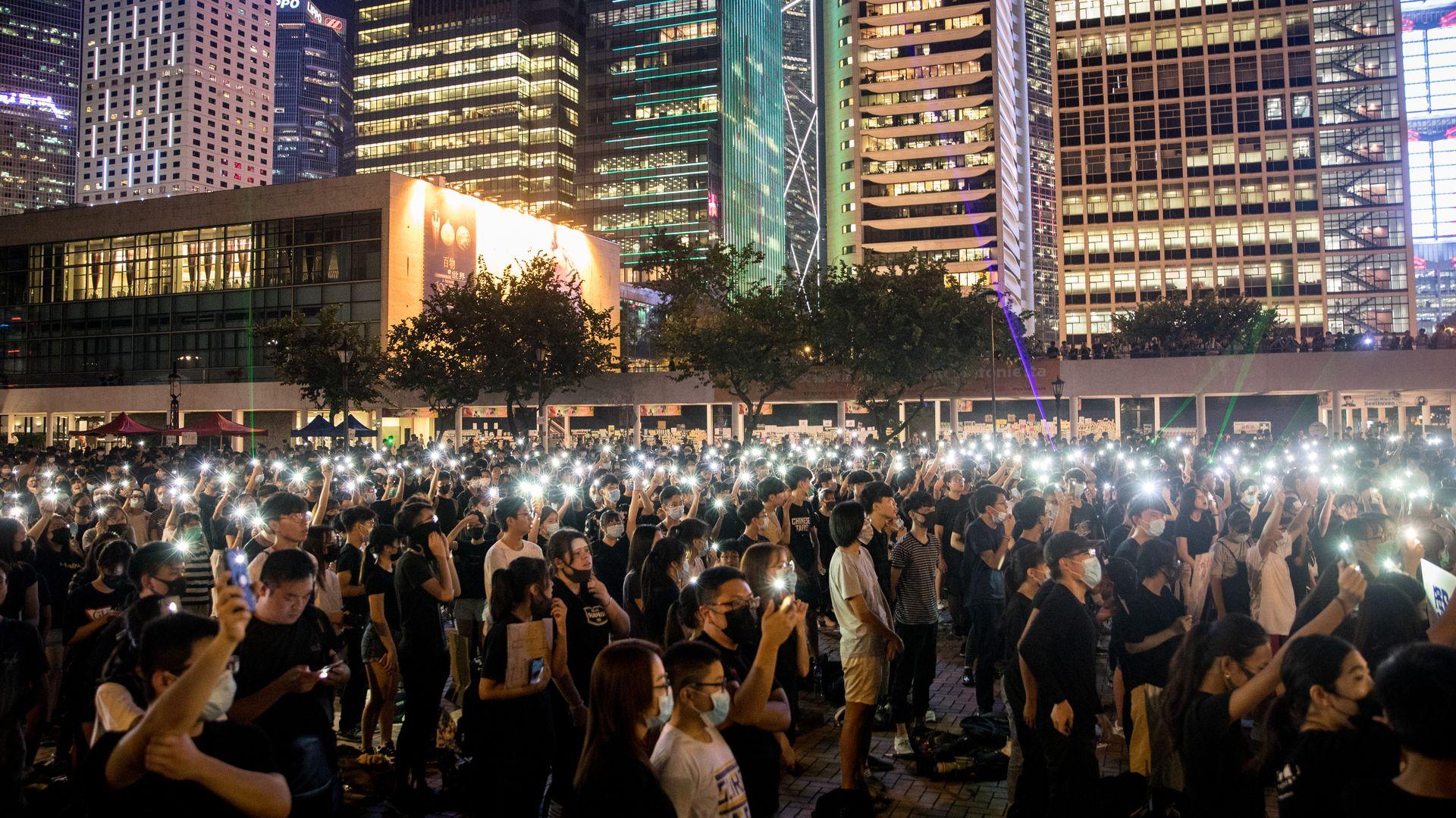 Hong Kong protestors.
