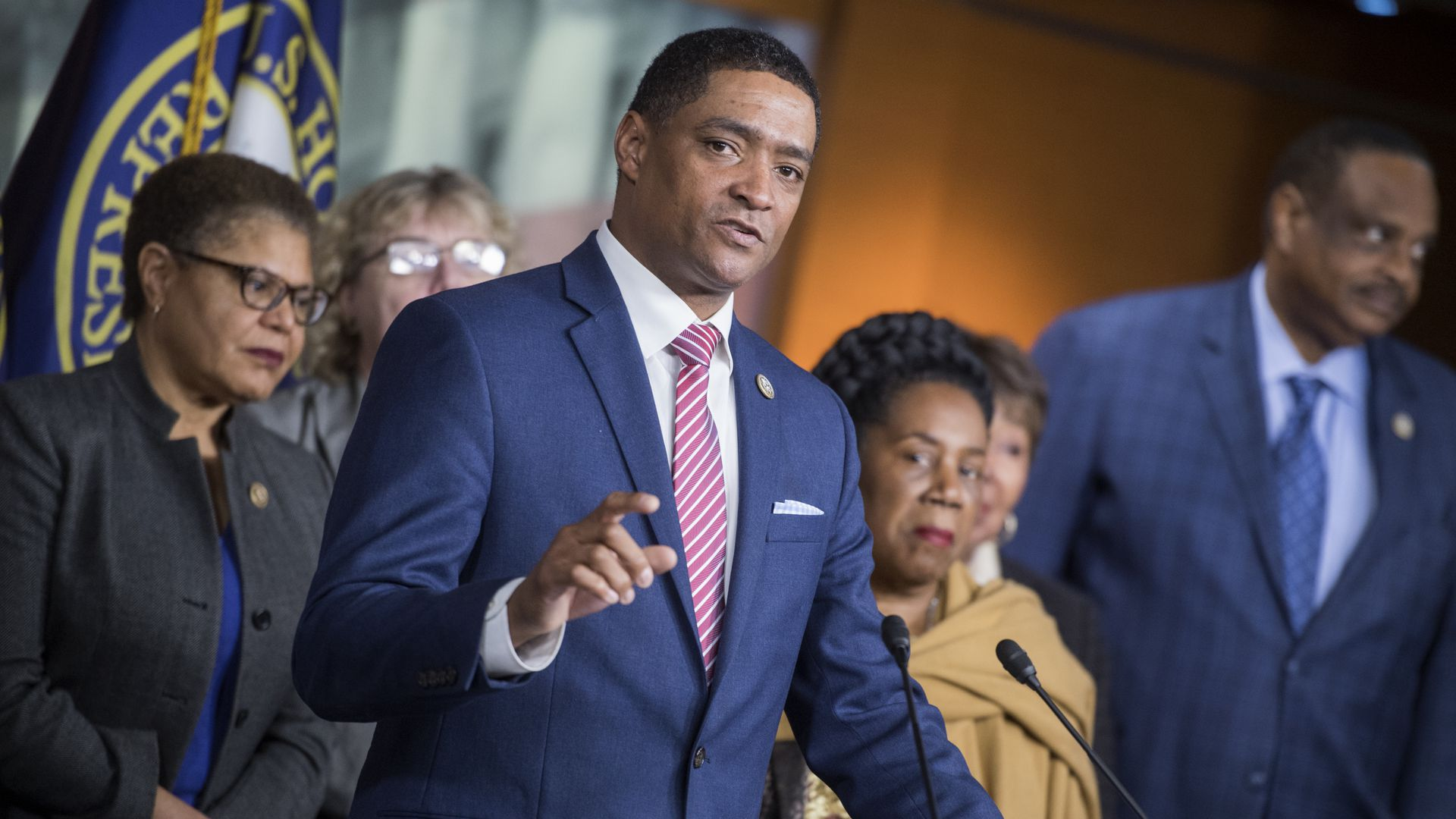 Congressional black caucus at a press conference
