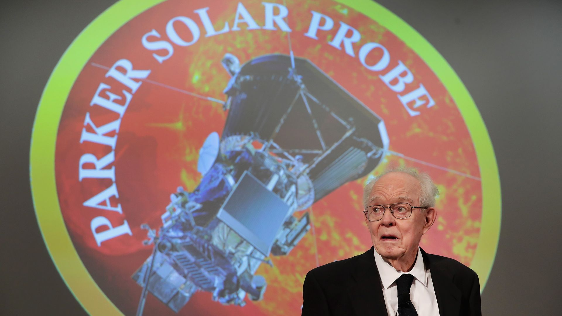 Dr. Eugene Parker announcing the solar probe