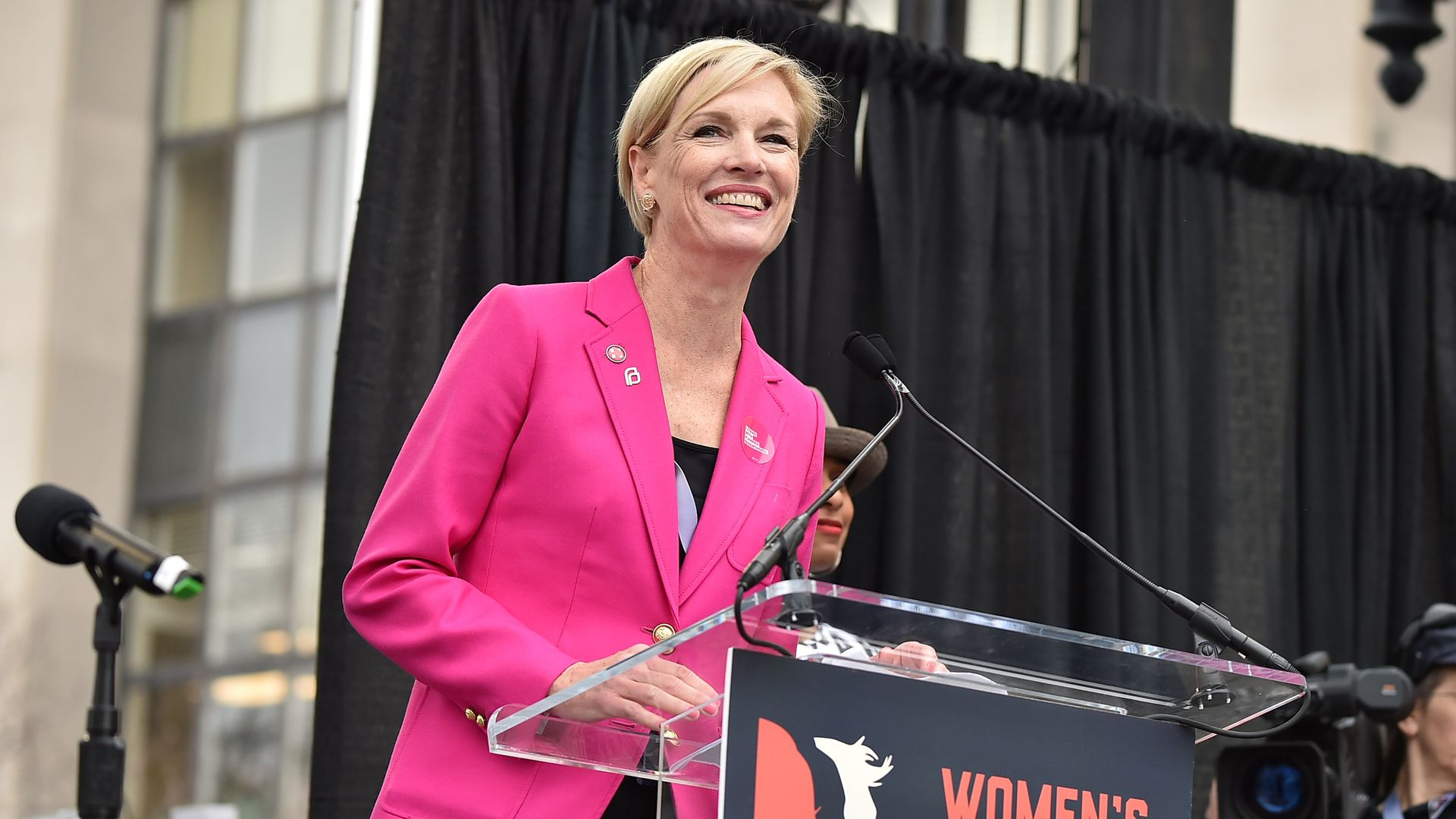 Cecile Richards at Women's March in Washington