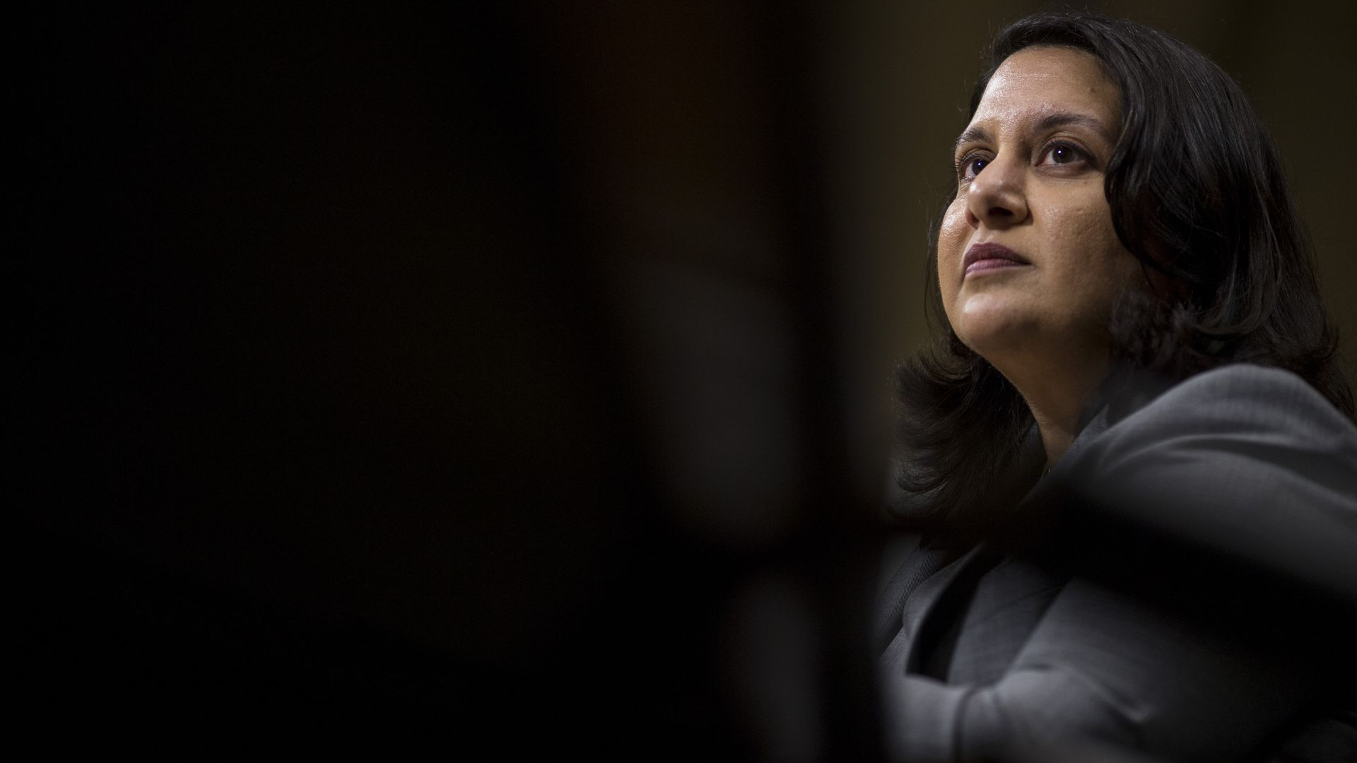 Neomi Rao sits at her confirmation hearing.