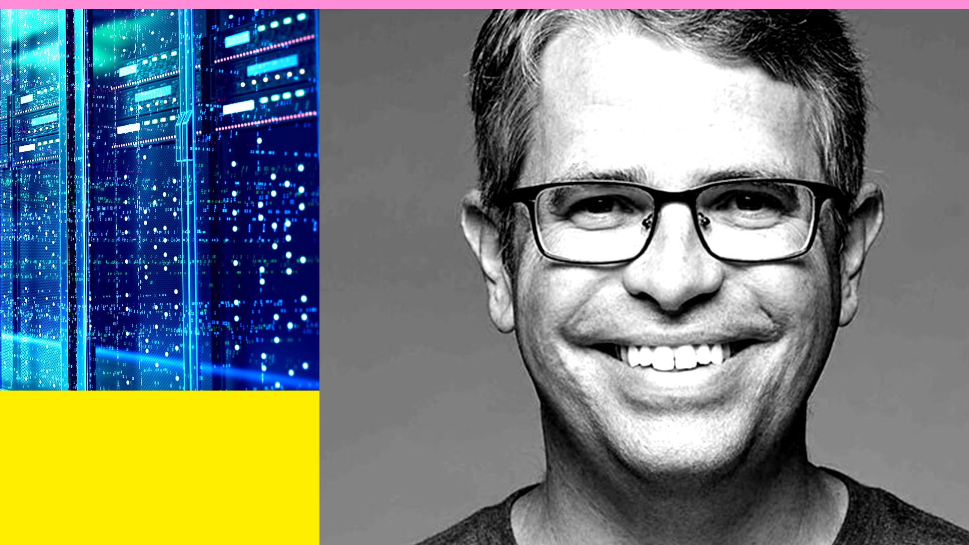 A photo illustration of US Digital Service head Matt Cutts and an image of a mainframe