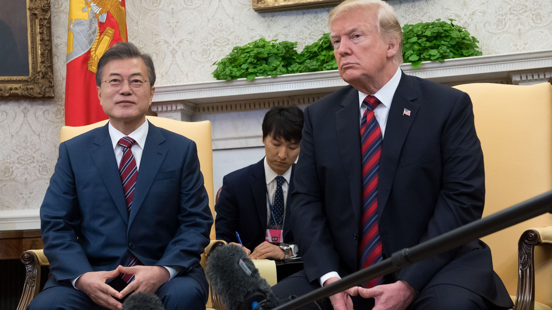 Donald Trump and Moon Jae-in