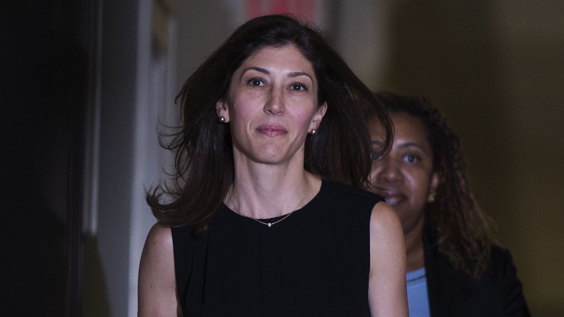 Lisa Page, former legal counsel to former FBI Director Andrew Mc Cabe, arrives on Capitol Hill July 13, 2018