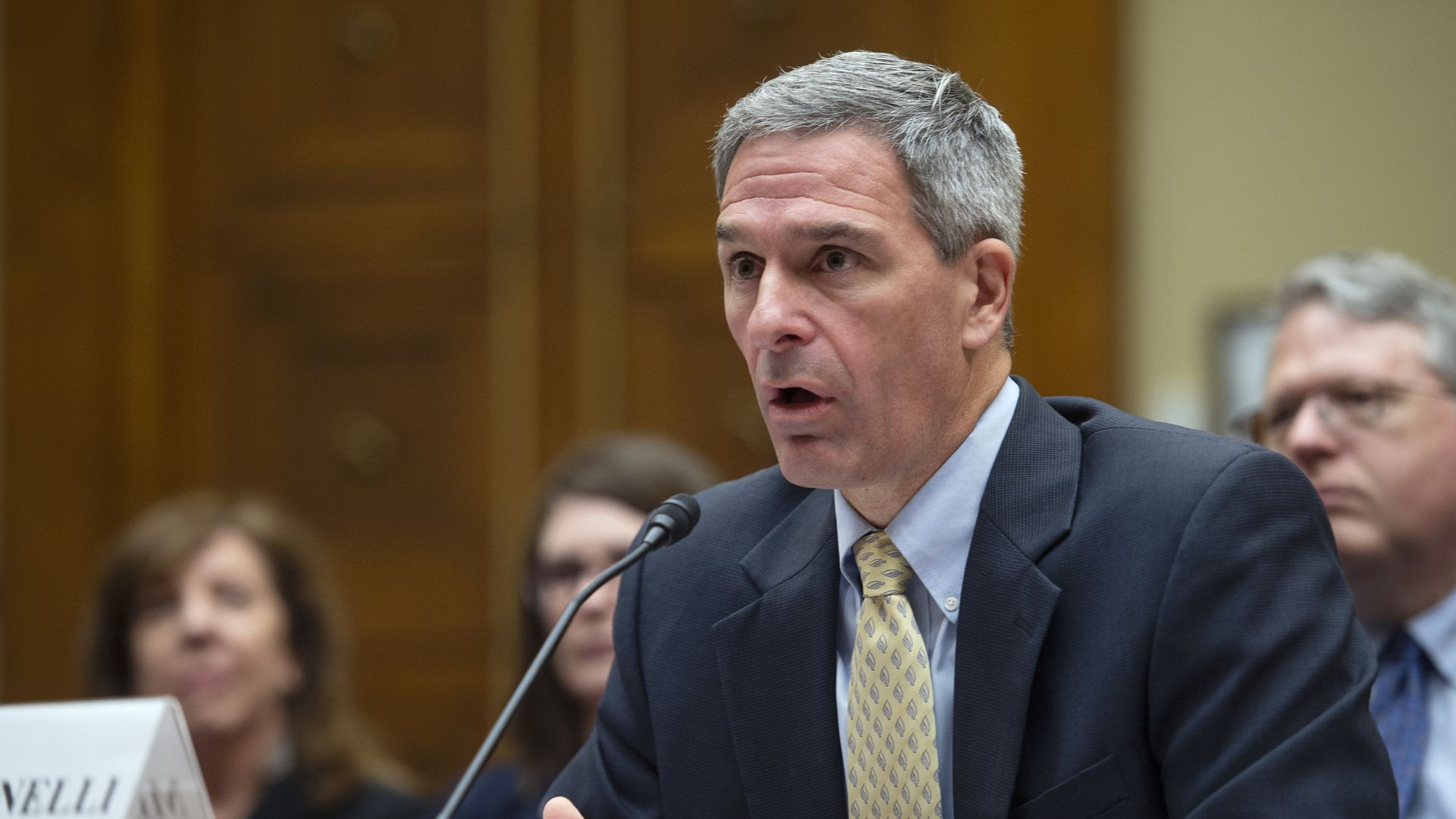 Ken Cuccinelli testifies before Congress last month.