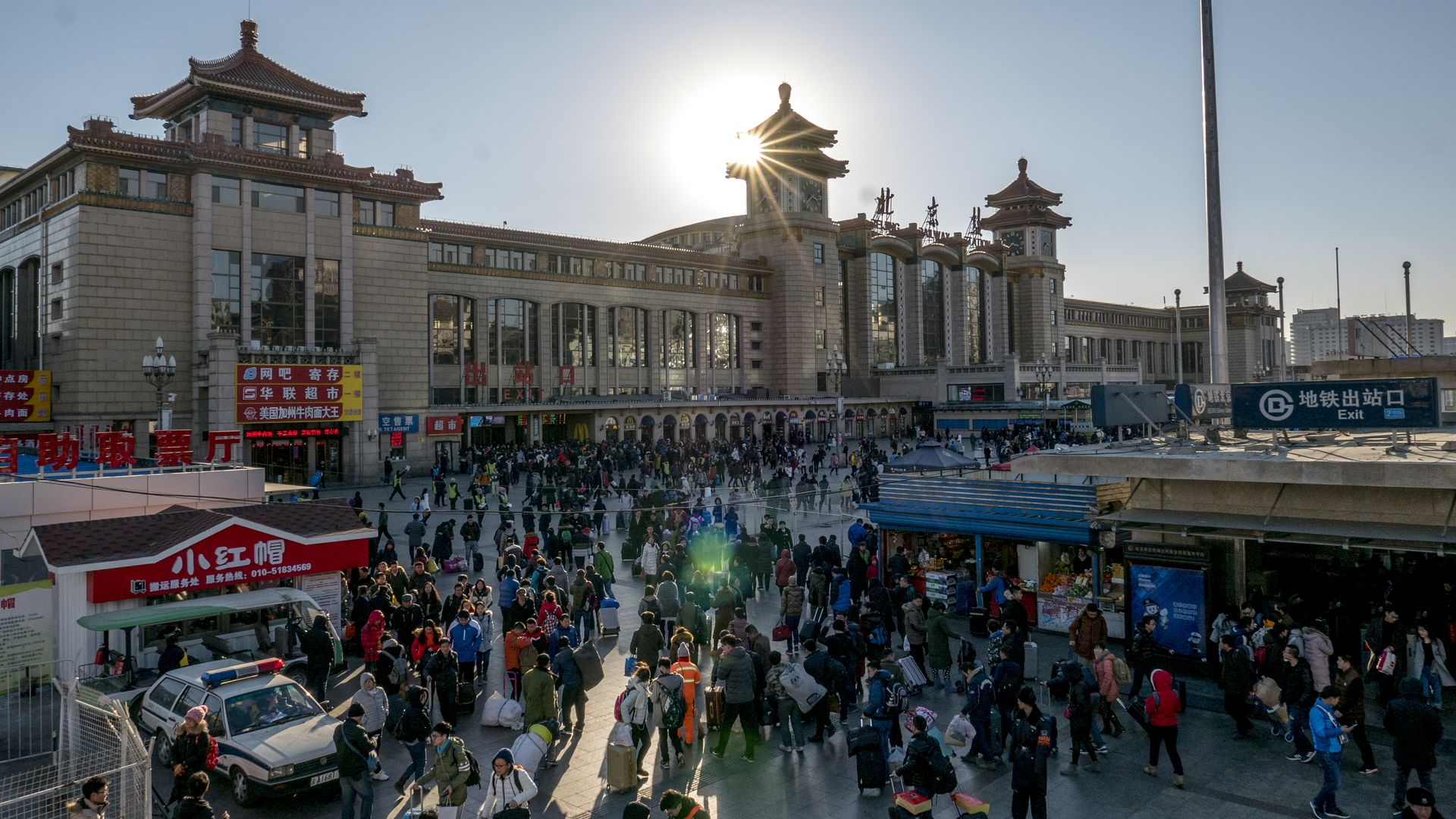 the square of Beijing railway station