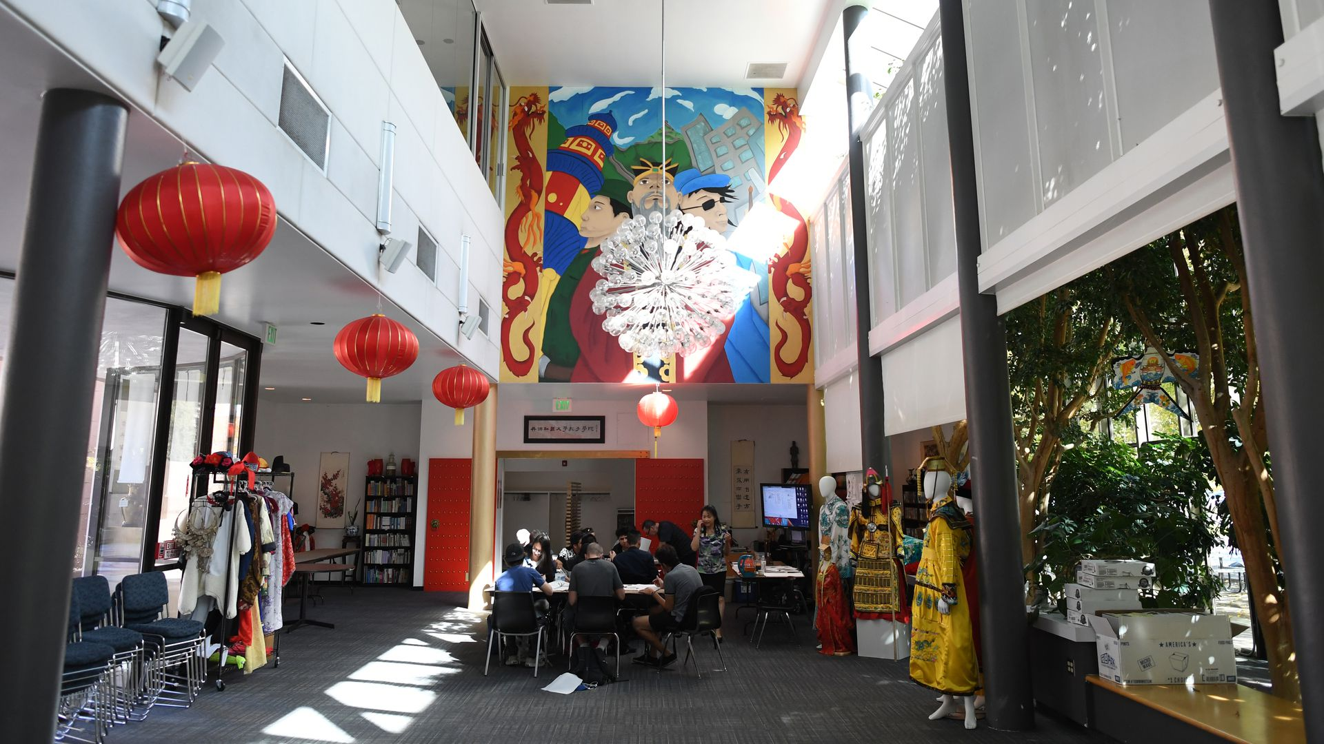 students in a classroom at a Confucius Institute