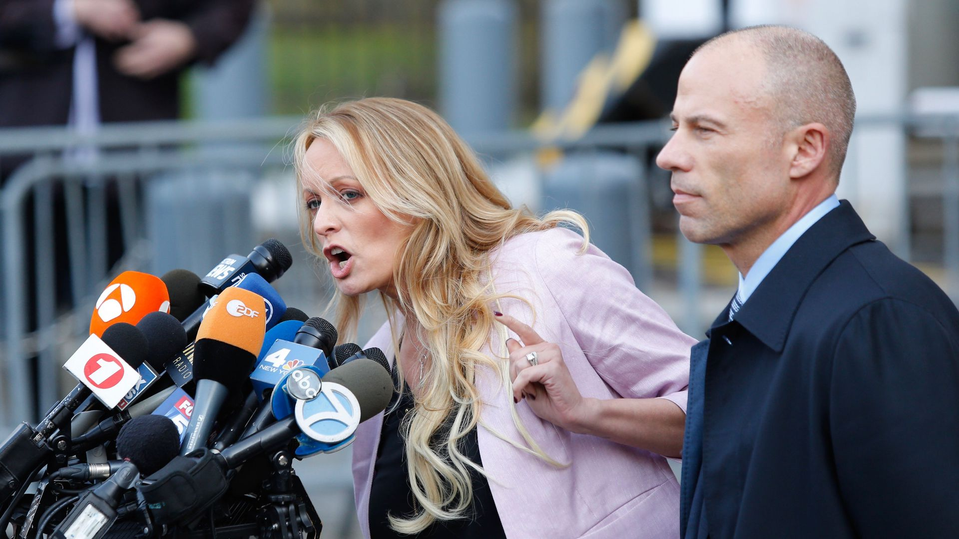 Adult-film actress Stephanie Clifford, also known as Stormy Daniels with her lawyer Michael Avenatti.