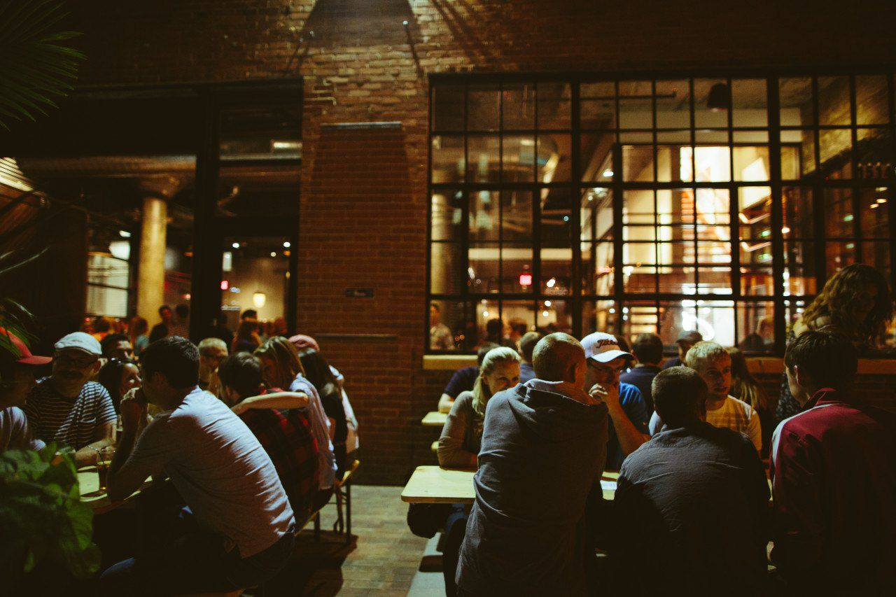 A past picture of the patio at Exile.