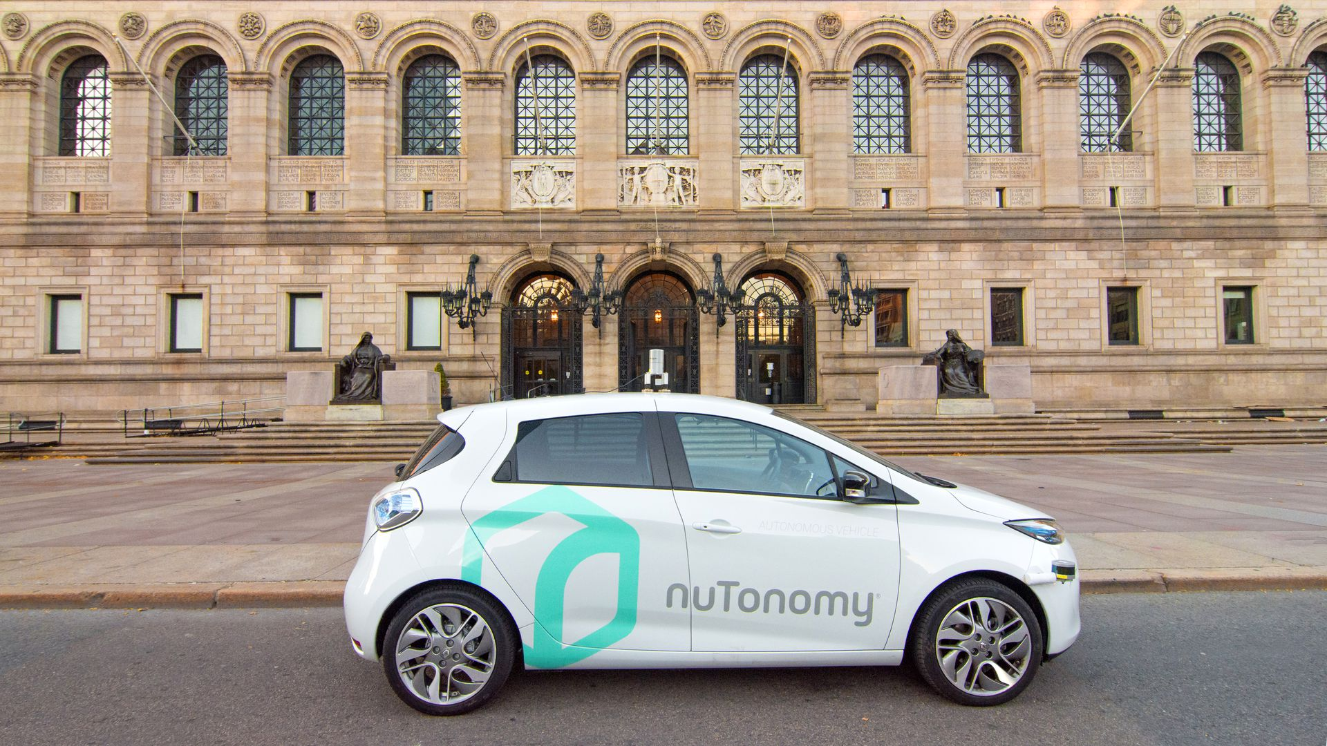 A nuTonomy test vehicle in Boston.