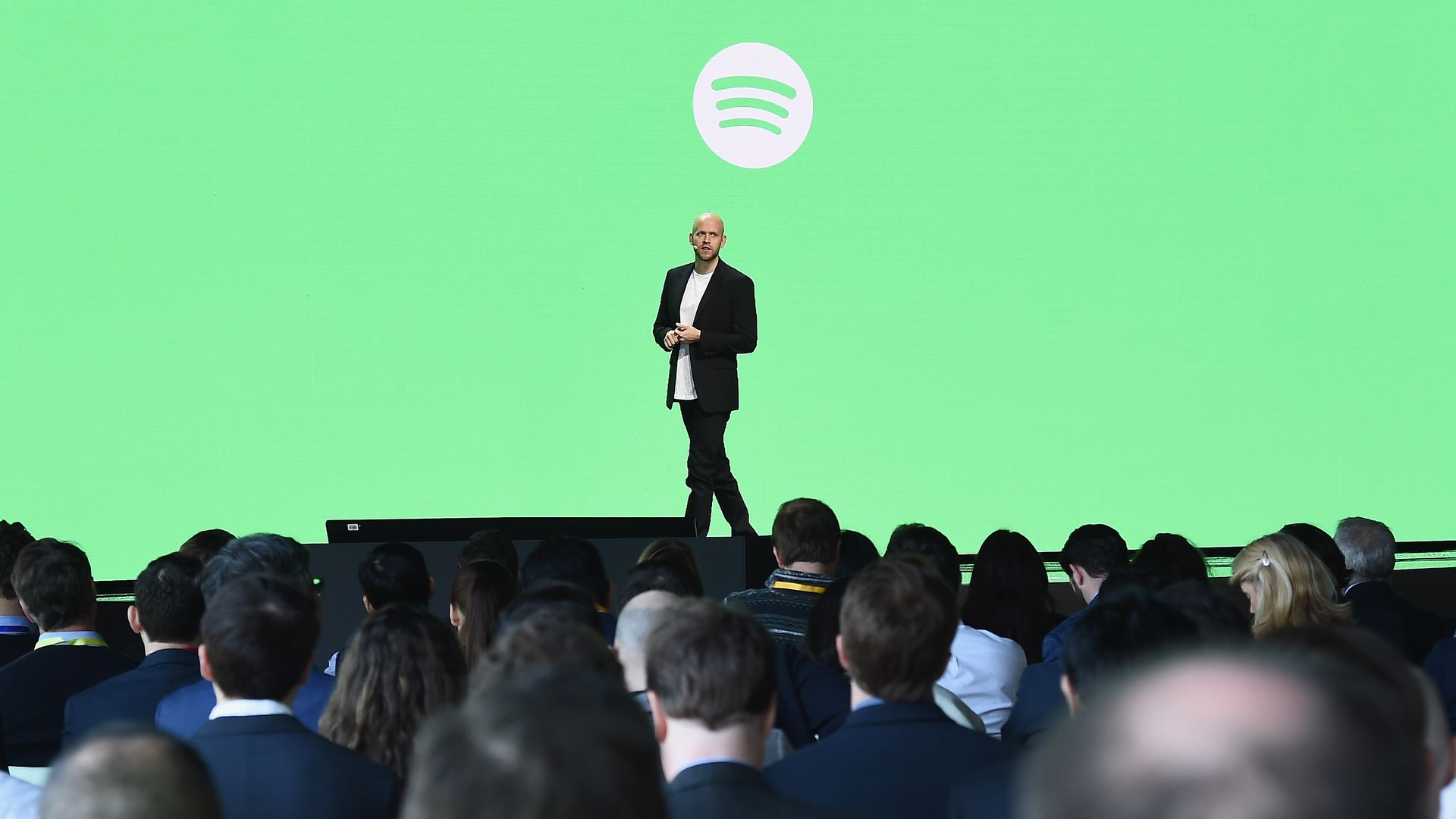 Spotify CEO Daniek Ek on the company's investor day.