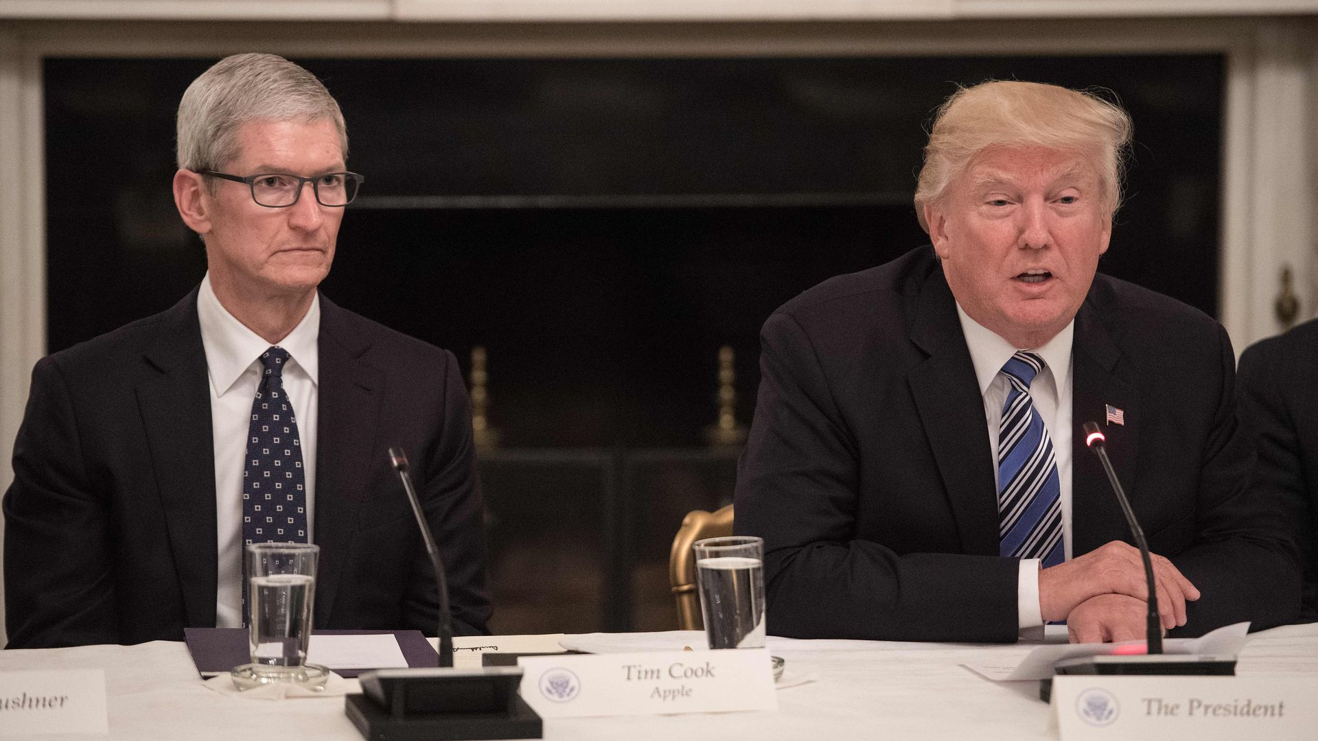 President Trump meeting with Apple CEO Tim Cook
