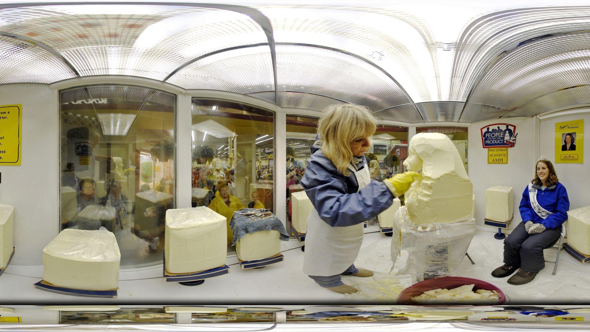 state fair butter sculpting