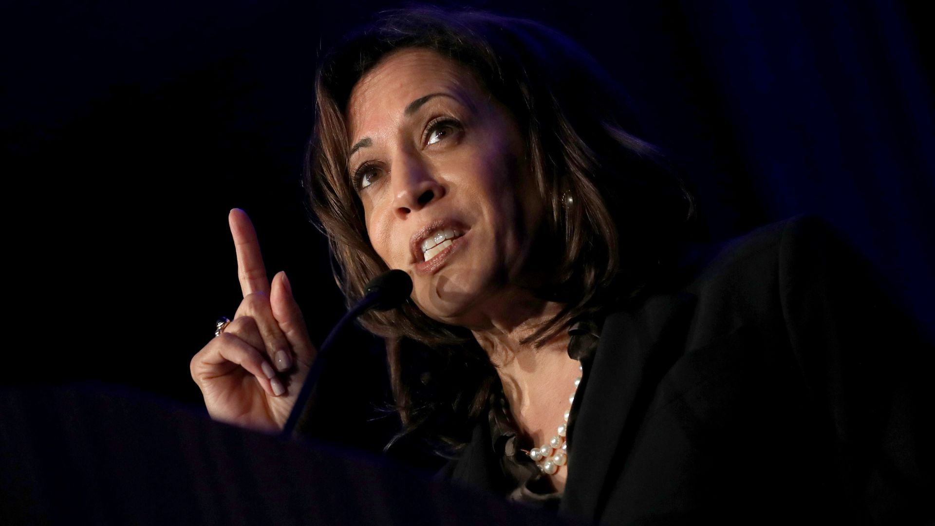 Democratic presidential hopeful U.S. Sen. Kamala Harris (D-CA) speaks during the San Francisco Black Newspaper's Anniversary Celebration on May 09, 2019 in San Francisco, California.