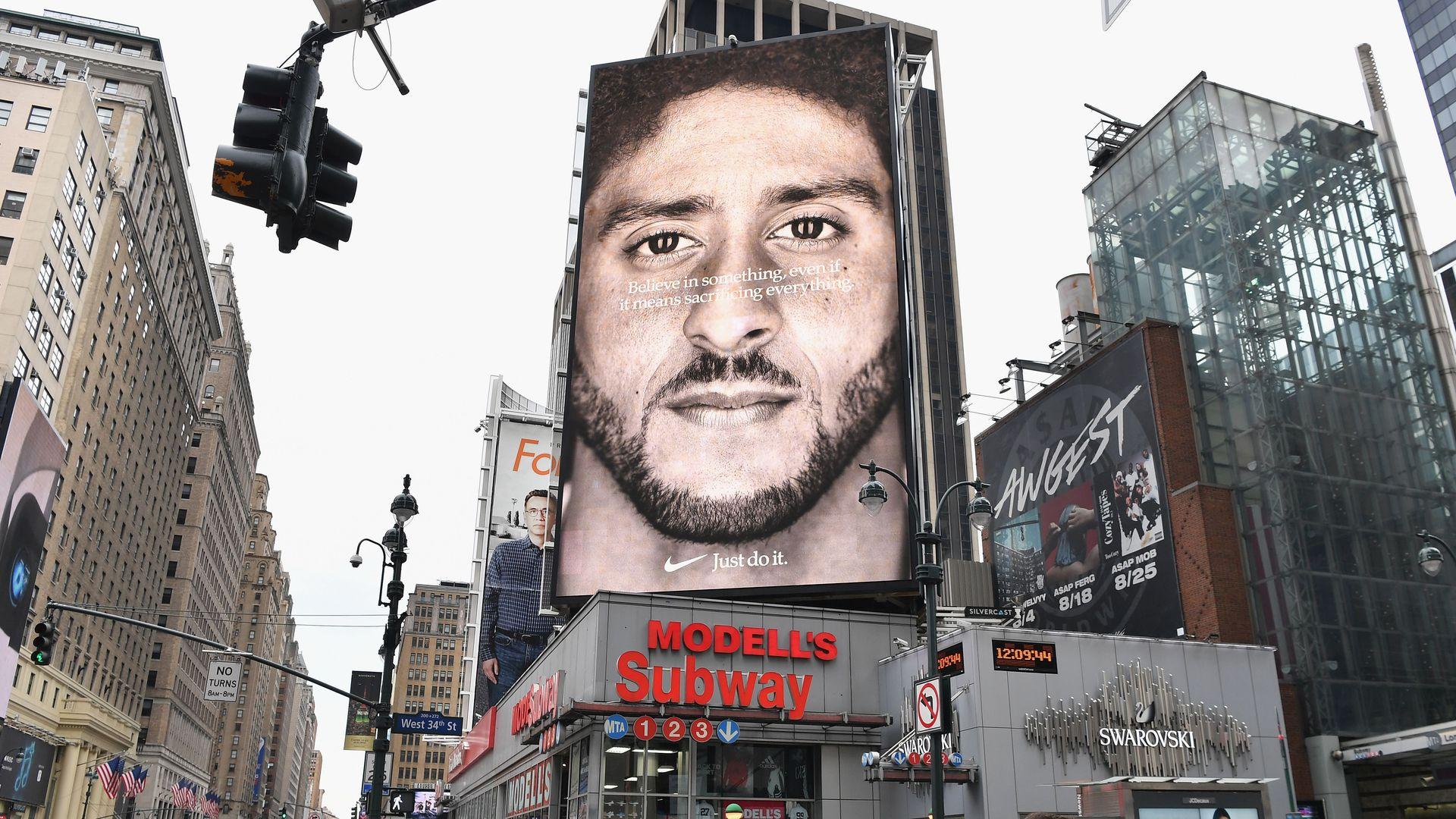 Colin Kaepernick's Nike billboard