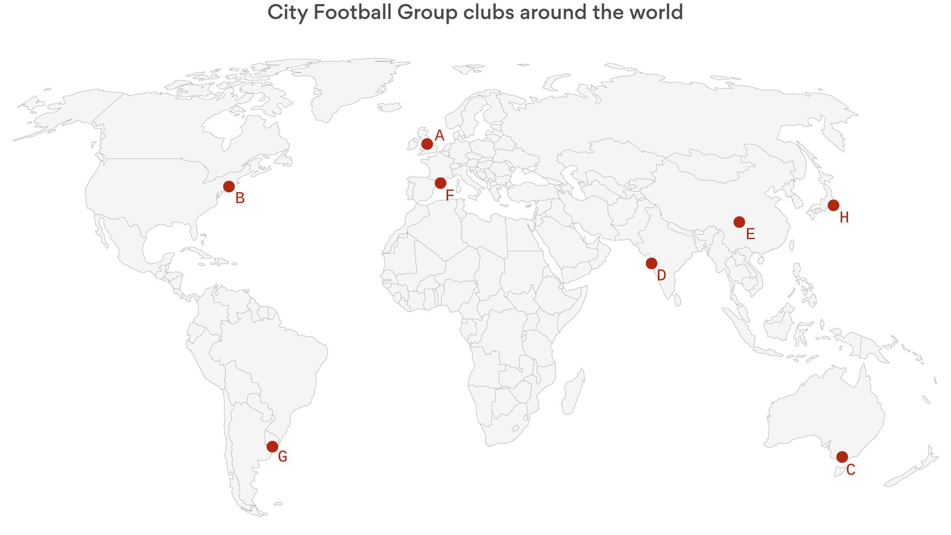 The City Football Group empire's worldwide reach