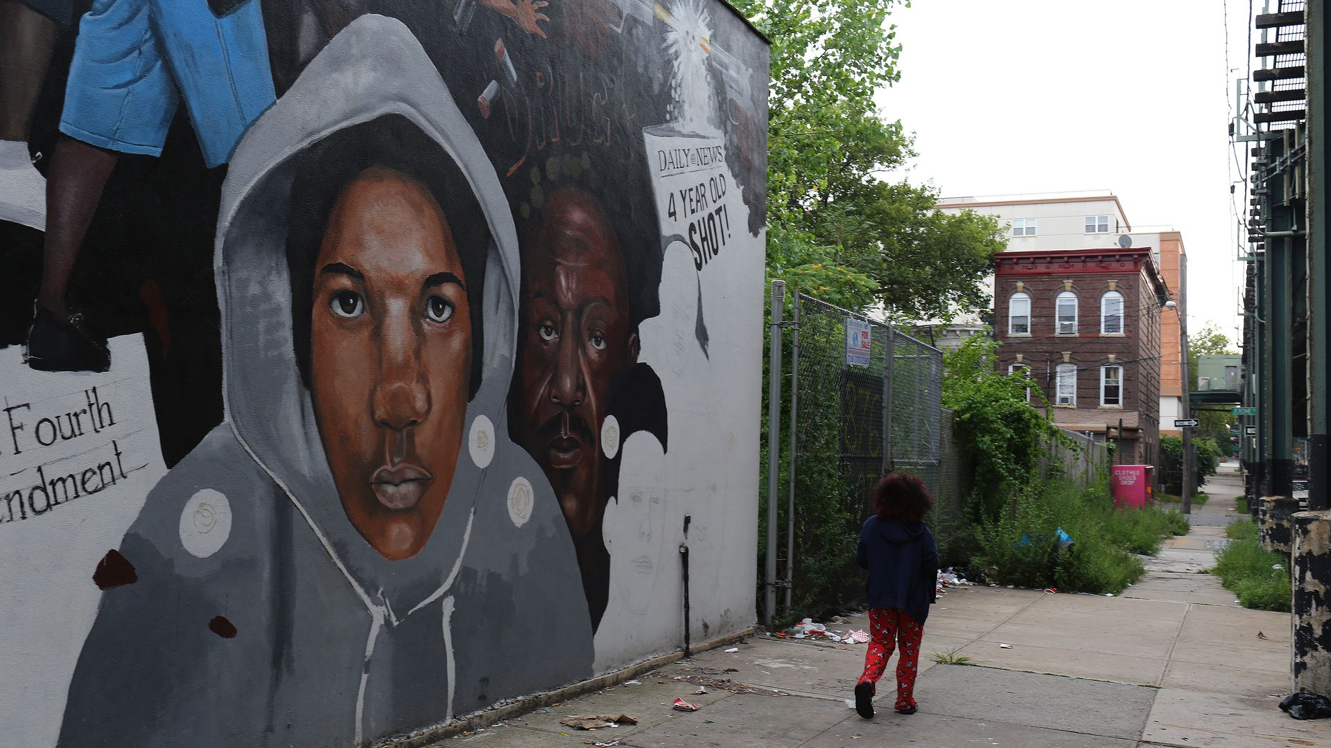 A Trayvon Martin mural in New York